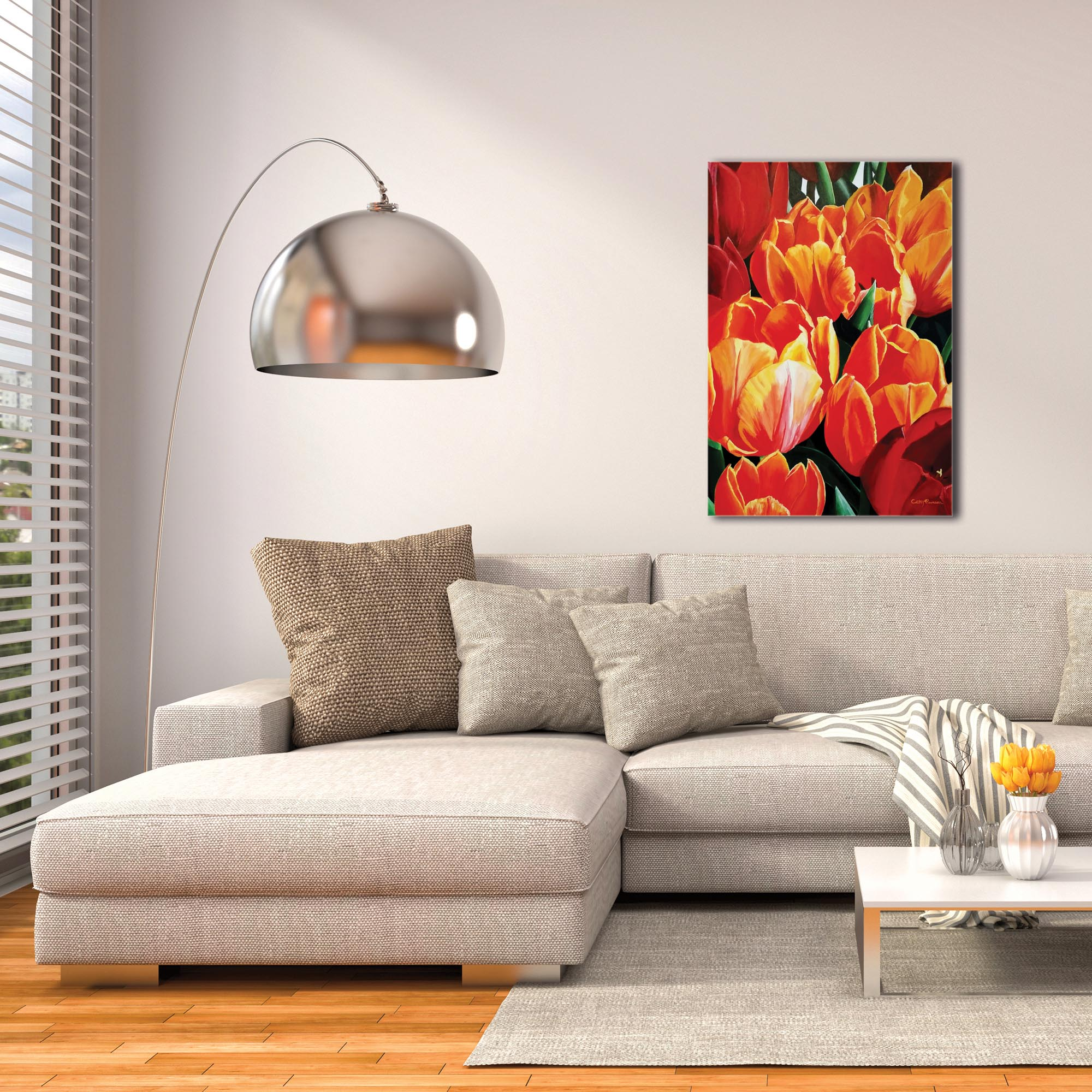 Traditional Wall Art 'Tulip Bonanza' - Floral Decor on Metal or Plexiglass - Image 3