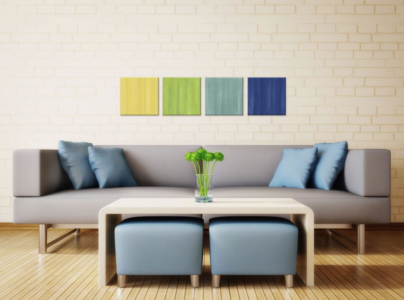Earth and Sky - Colorful Contemporary Accents by Celeste Reiter - Lifestyle Image