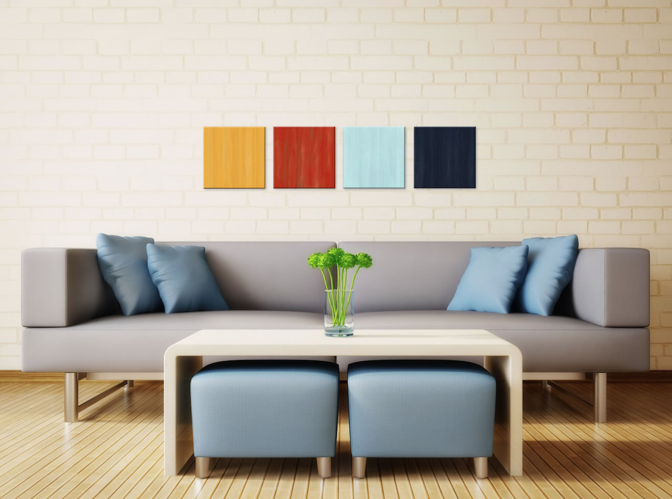 Hot and Cold - Colorful Contemporary Accents by Celeste Reiter - Lifestyle Image