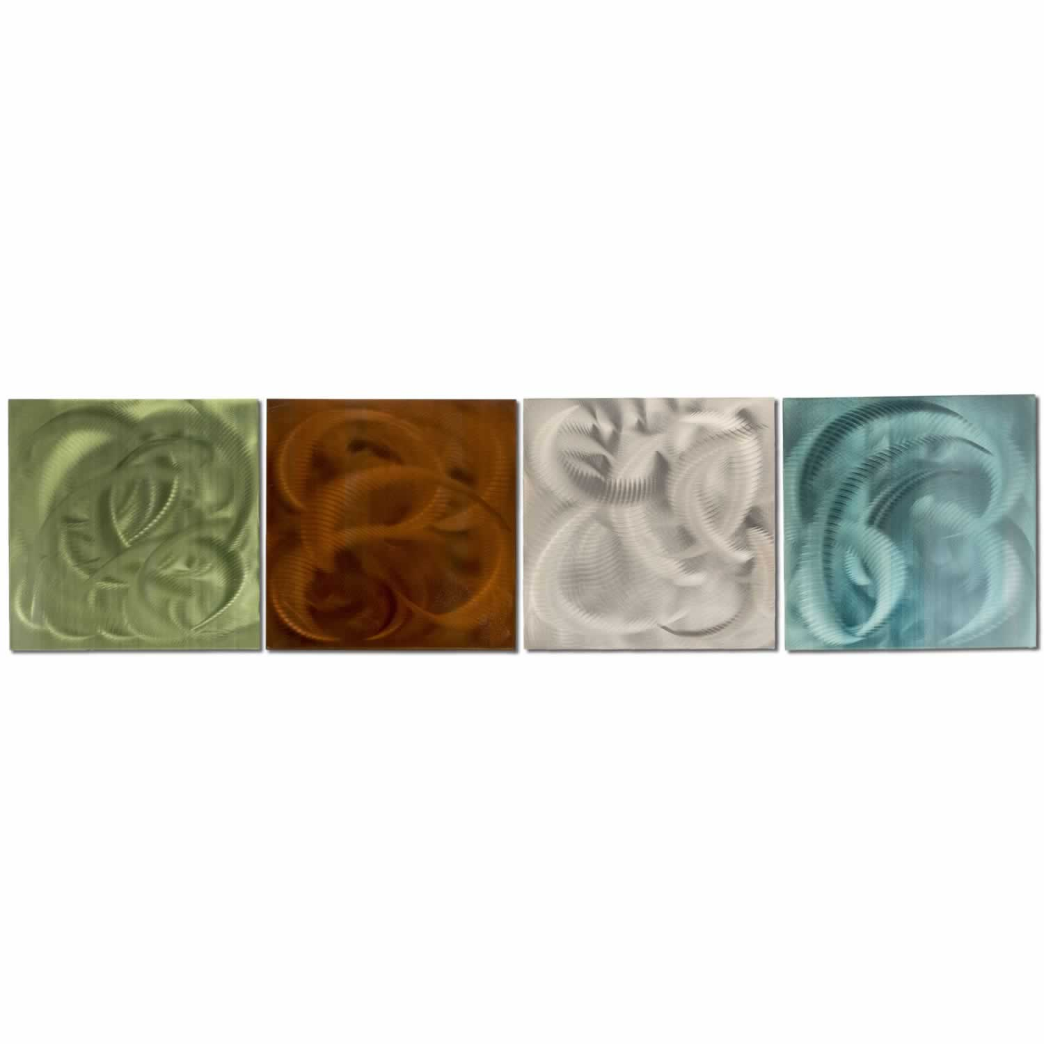 Elements - Colorful Modern Metal Wall Art