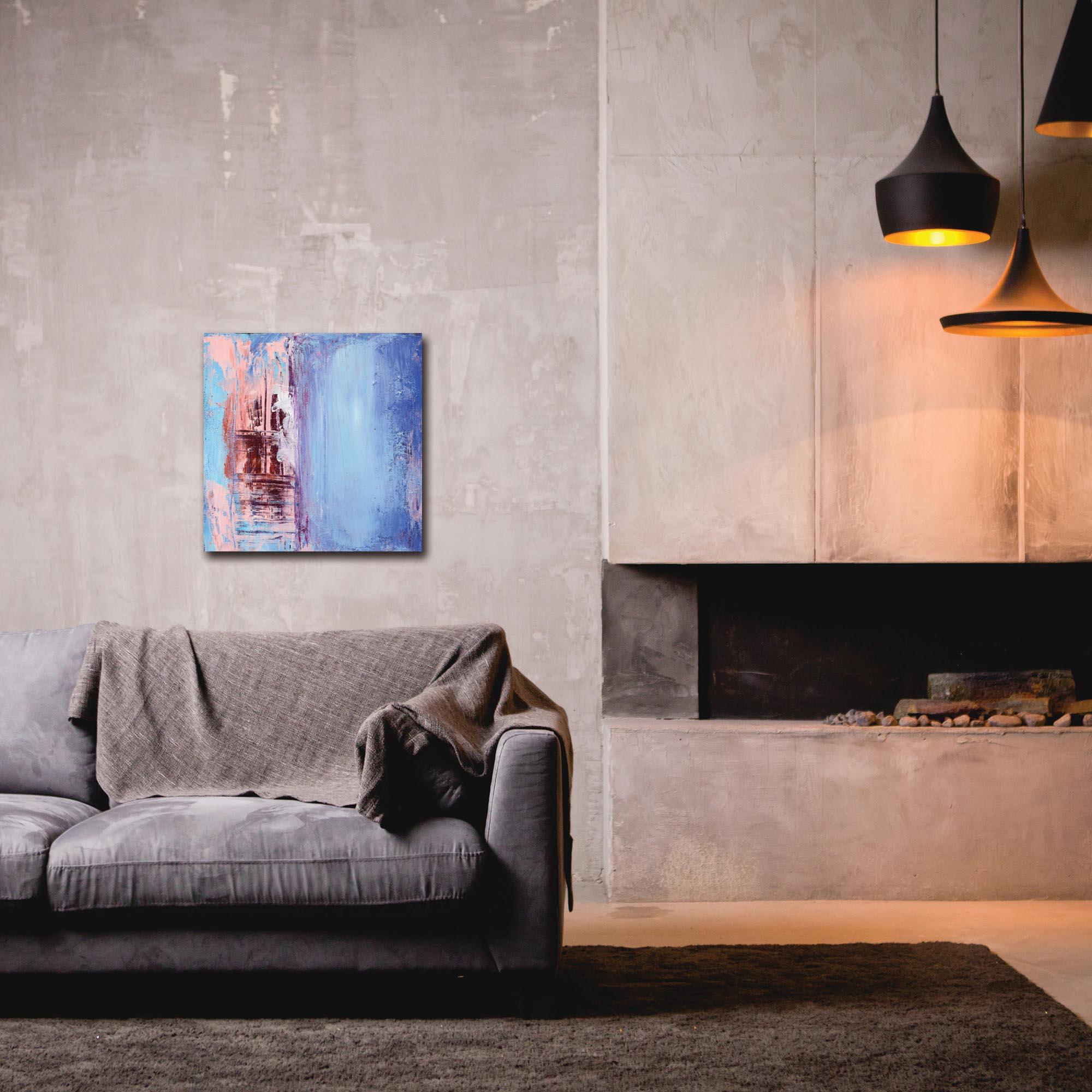Abstract Wall Art 'Urban Life 2' - Urban Decor on Metal or Plexiglass - Lifestyle View