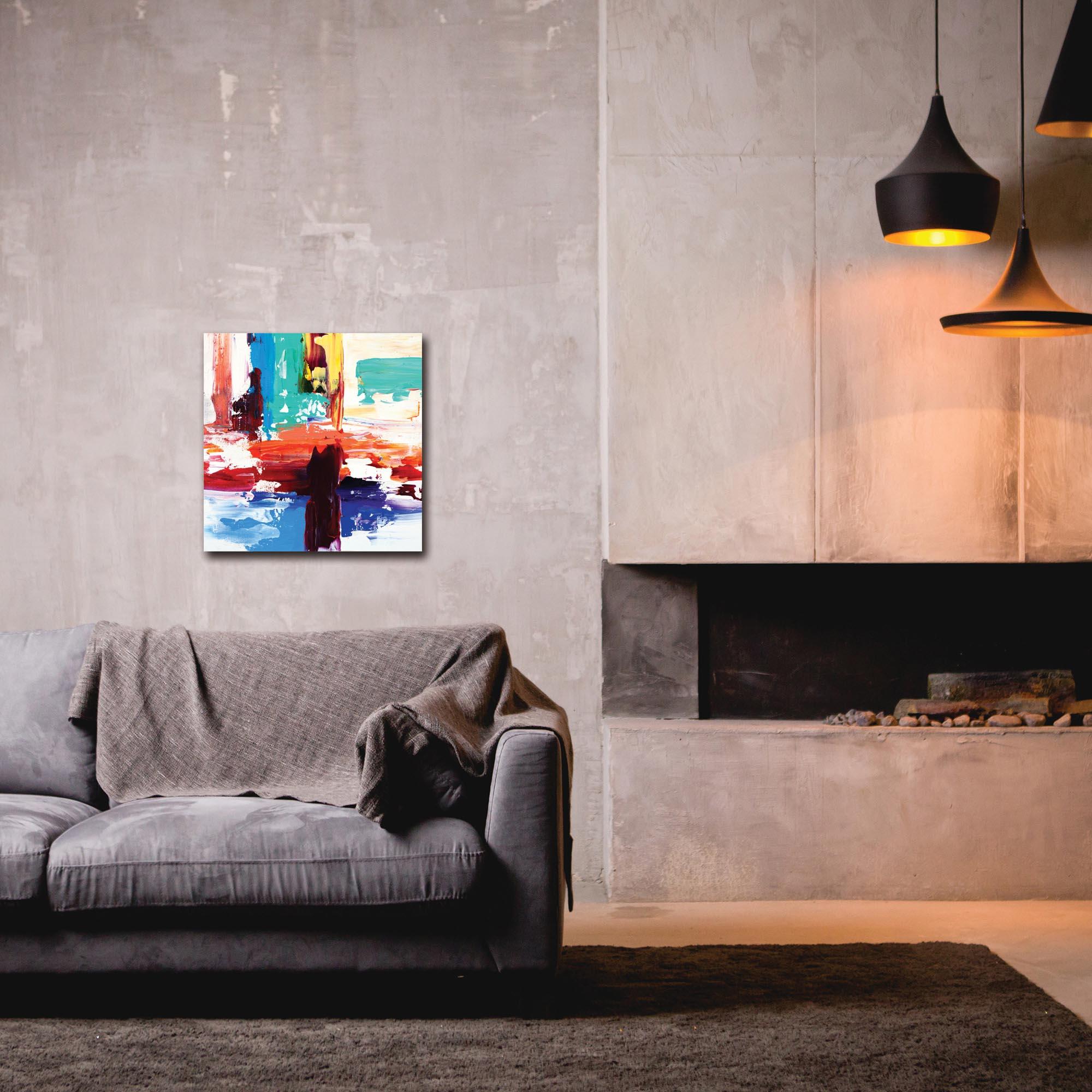 Abstract Wall Art 'Urban Life 3' - Urban Decor on Metal or Plexiglass - Lifestyle View
