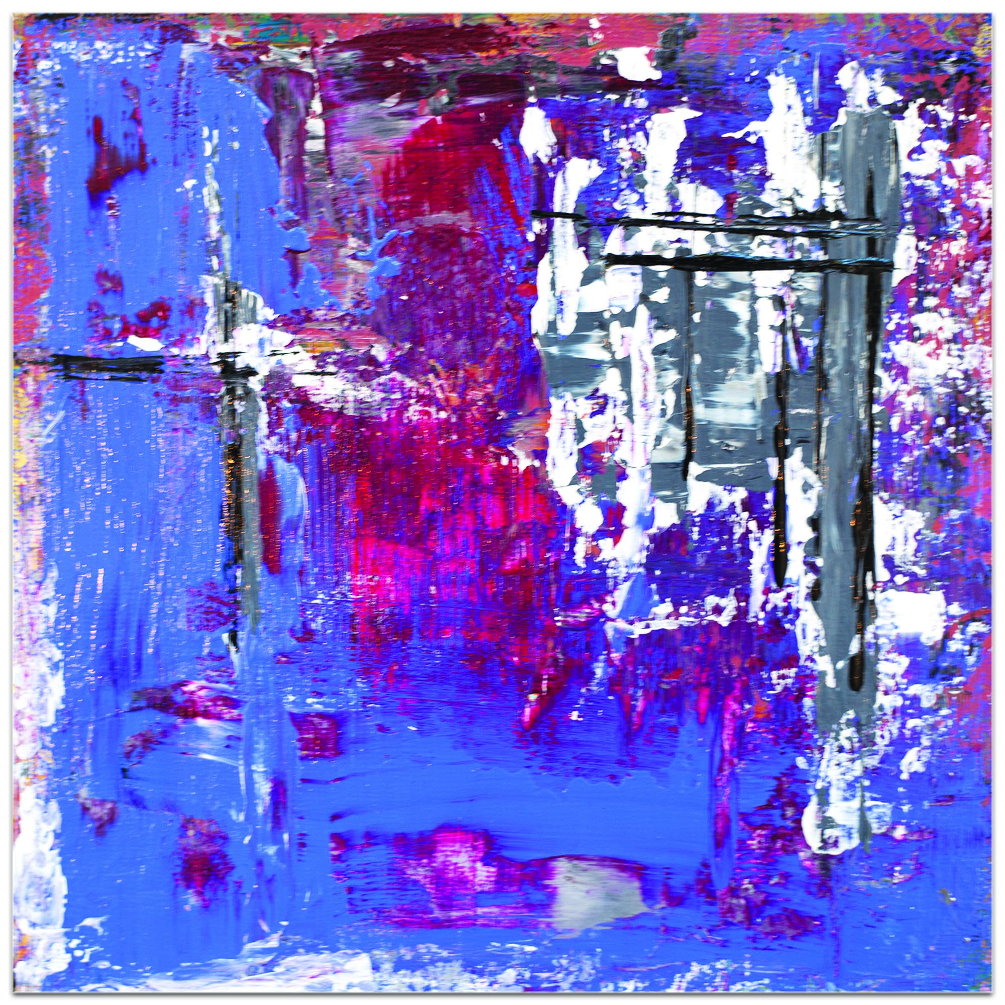 Abstract Wall Art 'Urban Life 7' - Urban Decor on Metal or Plexiglass - Image 2