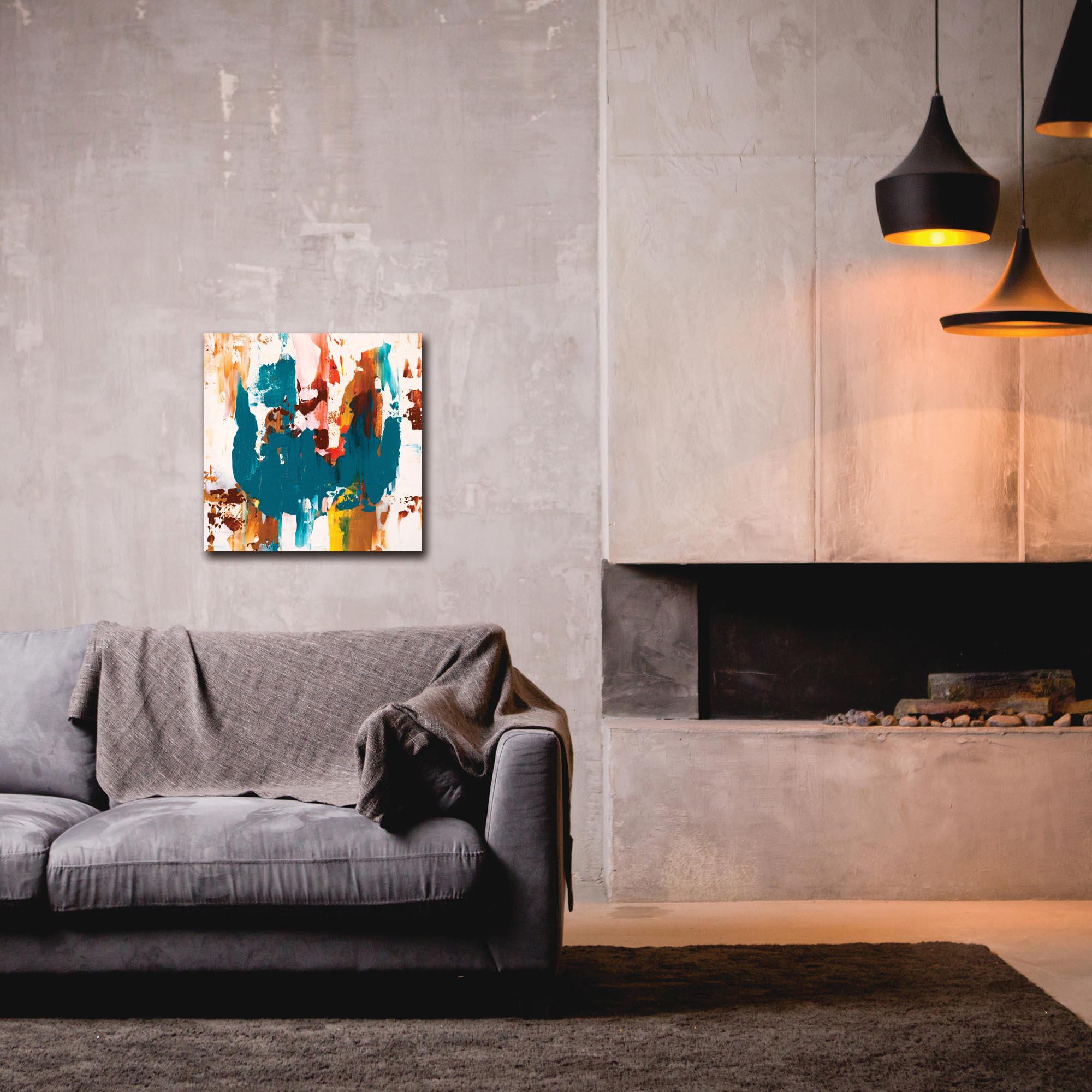 Abstract Wall Art 'Urban Life 8' - Urban Decor on Metal or Plexiglass - Lifestyle View