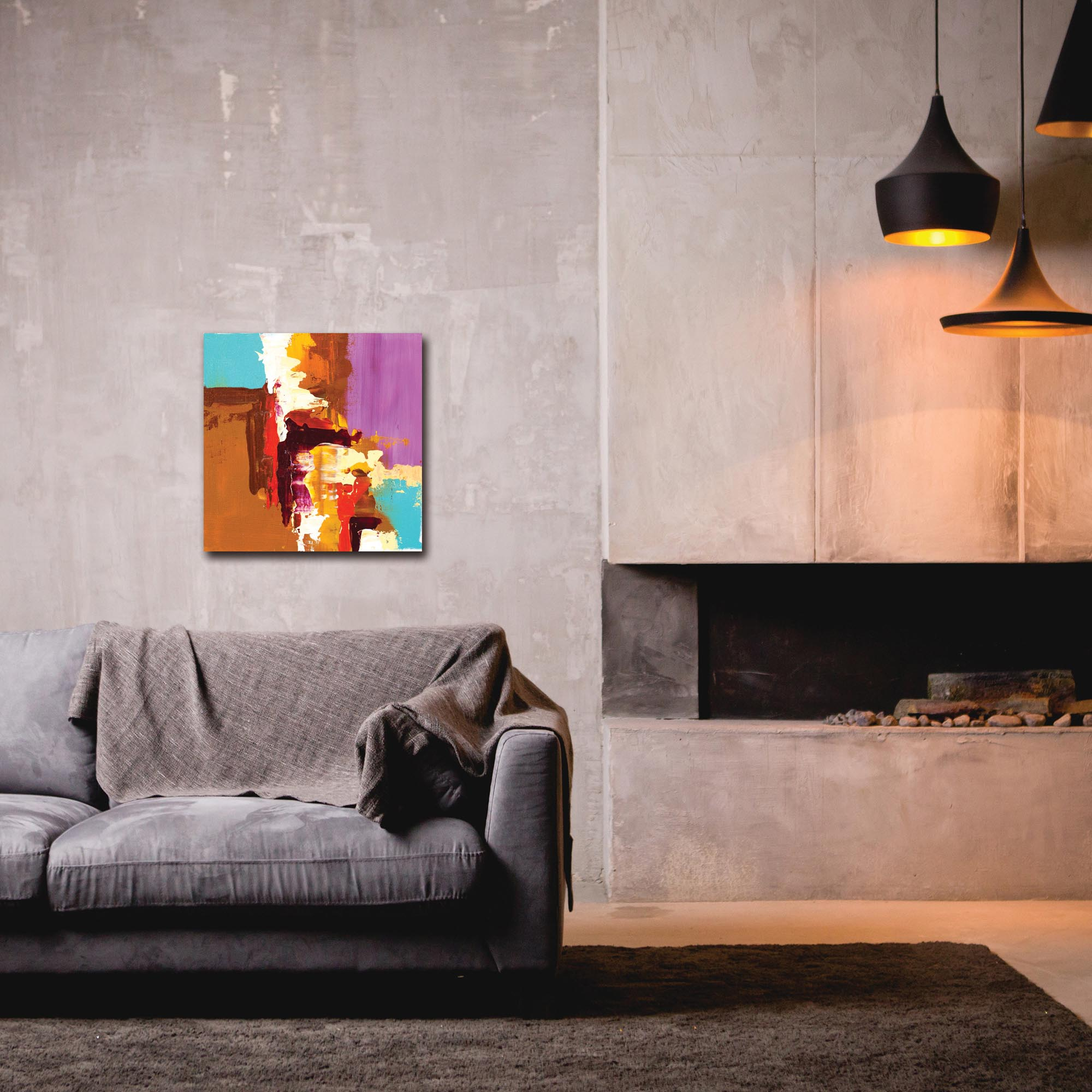 Abstract Wall Art 'Urban Life 12' - Urban Decor on Metal or Plexiglass - Lifestyle View