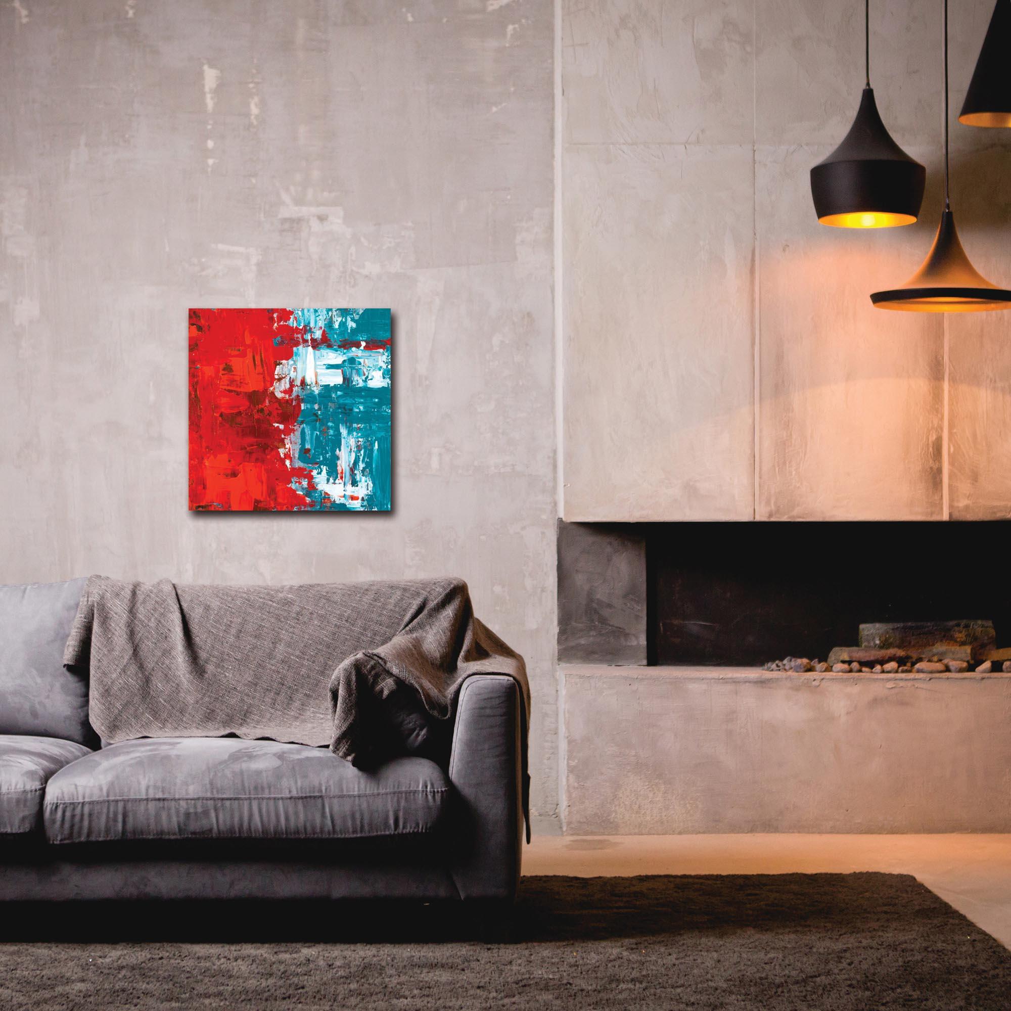 Abstract Wall Art 'Urban Life 13' - Urban Decor on Metal or Plexiglass - Lifestyle View