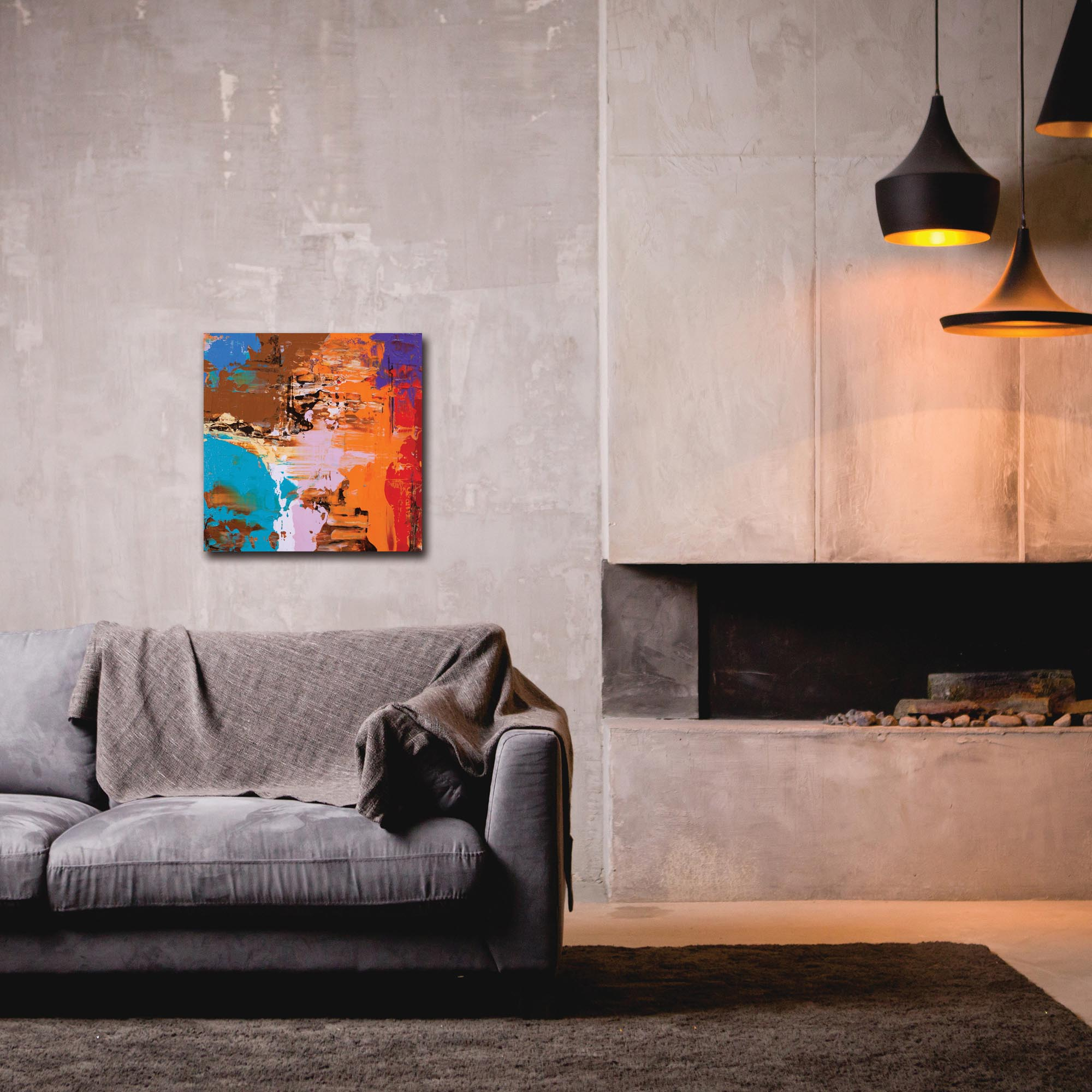 Abstract Wall Art 'Urban Life 14' - Urban Decor on Metal or Plexiglass - Lifestyle View