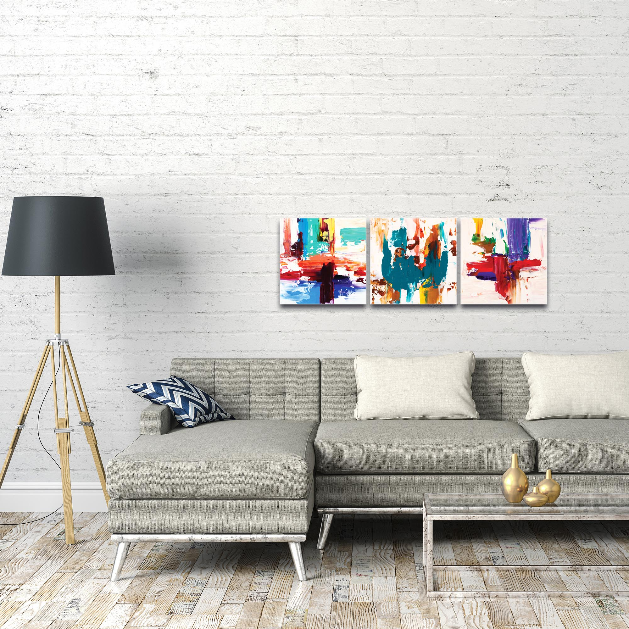 Abstract Wall Art 'Urban Triptych 2' - Urban Decor on Metal or Plexiglass - Image 3