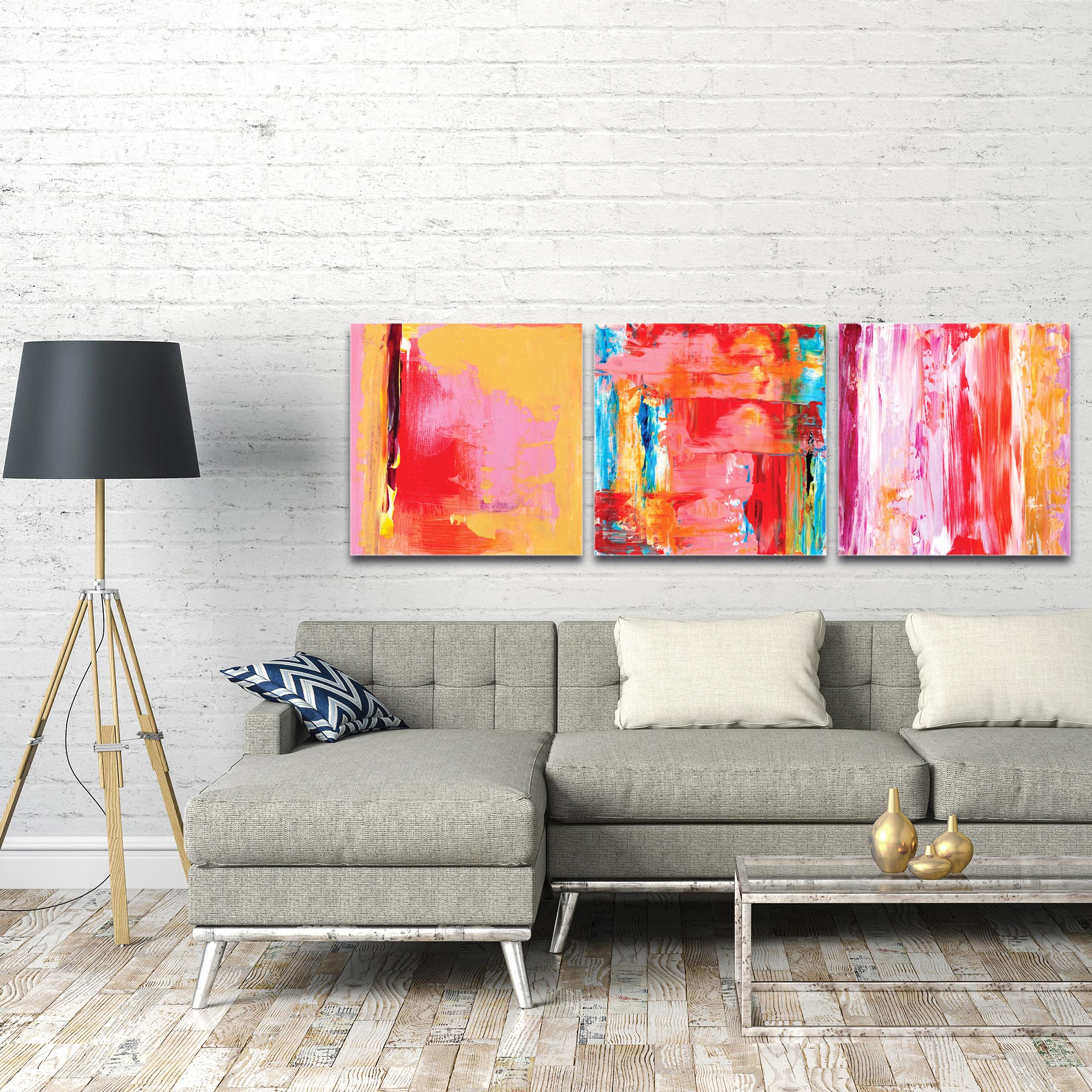 Abstract Wall Art 'Urban Triptych 3 Large' - Urban Decor on Metal or Plexiglass - Image 3