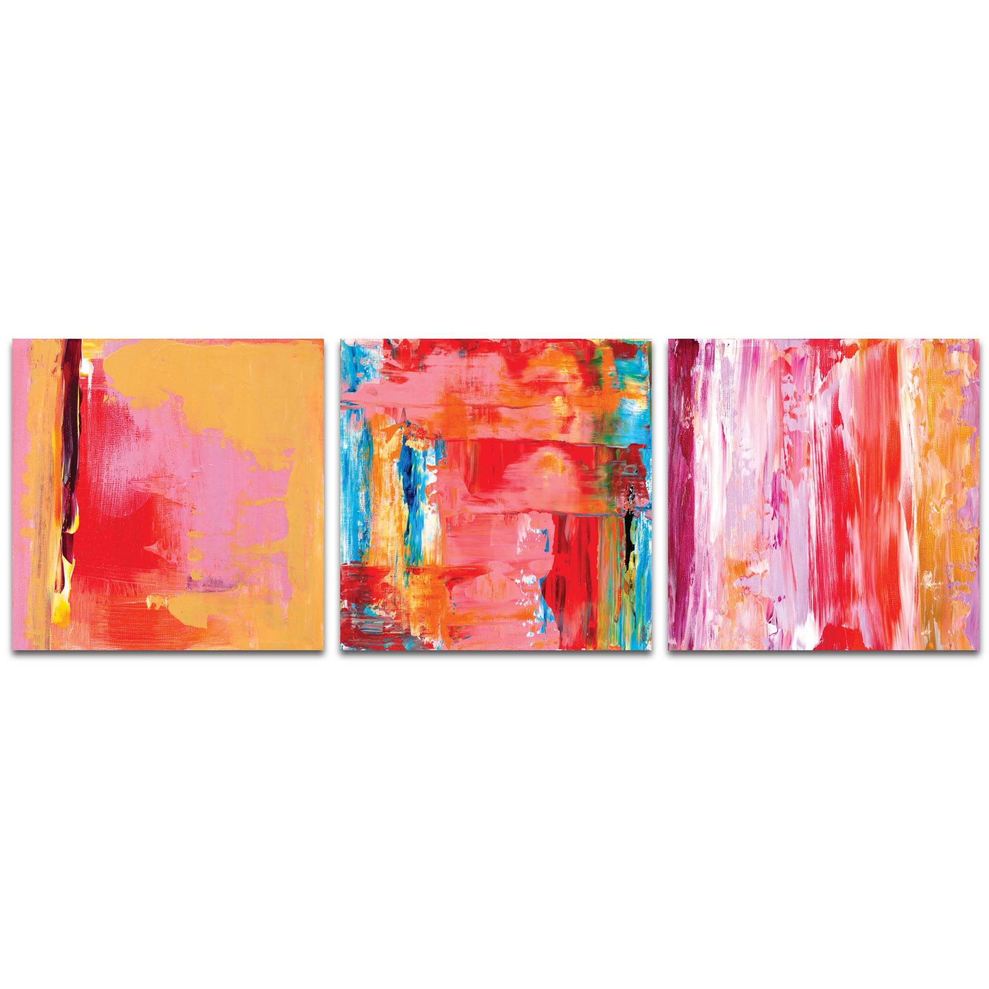 Abstract Wall Art 'Urban Triptych 3 Large' - Urban Decor on Metal or Plexiglass