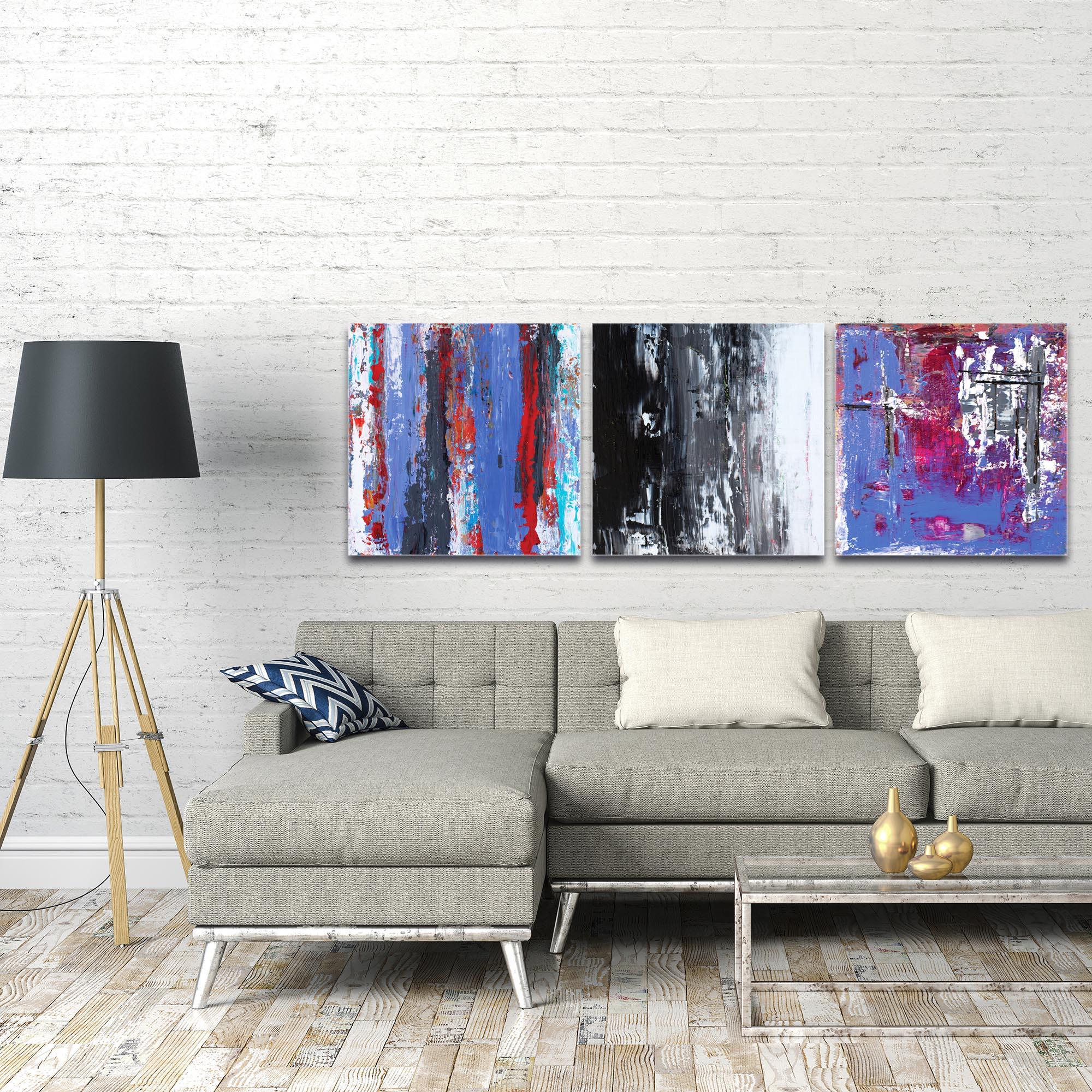 Abstract Wall Art 'Urban Triptych 4 Large' - Urban Decor on Metal or Plexiglass - Image 3