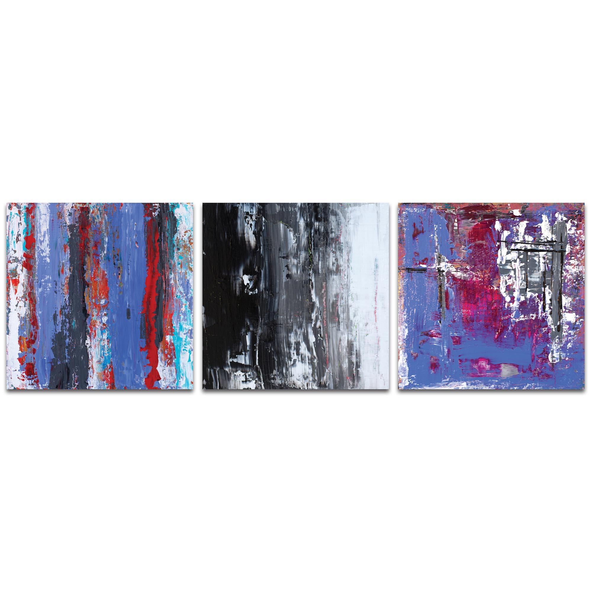 Abstract Wall Art 'Urban Triptych 4 Large' - Urban Decor on Metal or Plexiglass