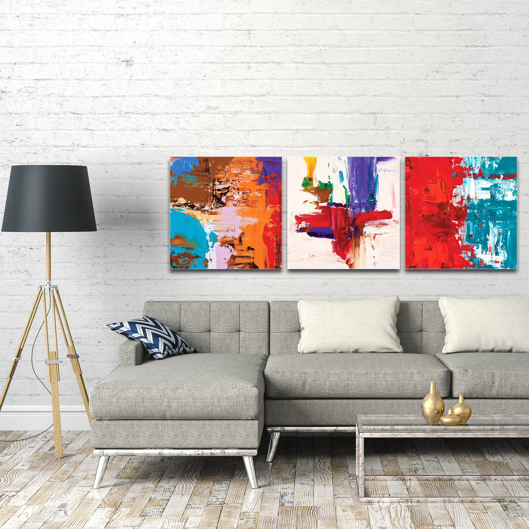 Abstract Wall Art 'Urban Triptych 5 Large' - Urban Decor on Metal or Plexiglass - Image 3