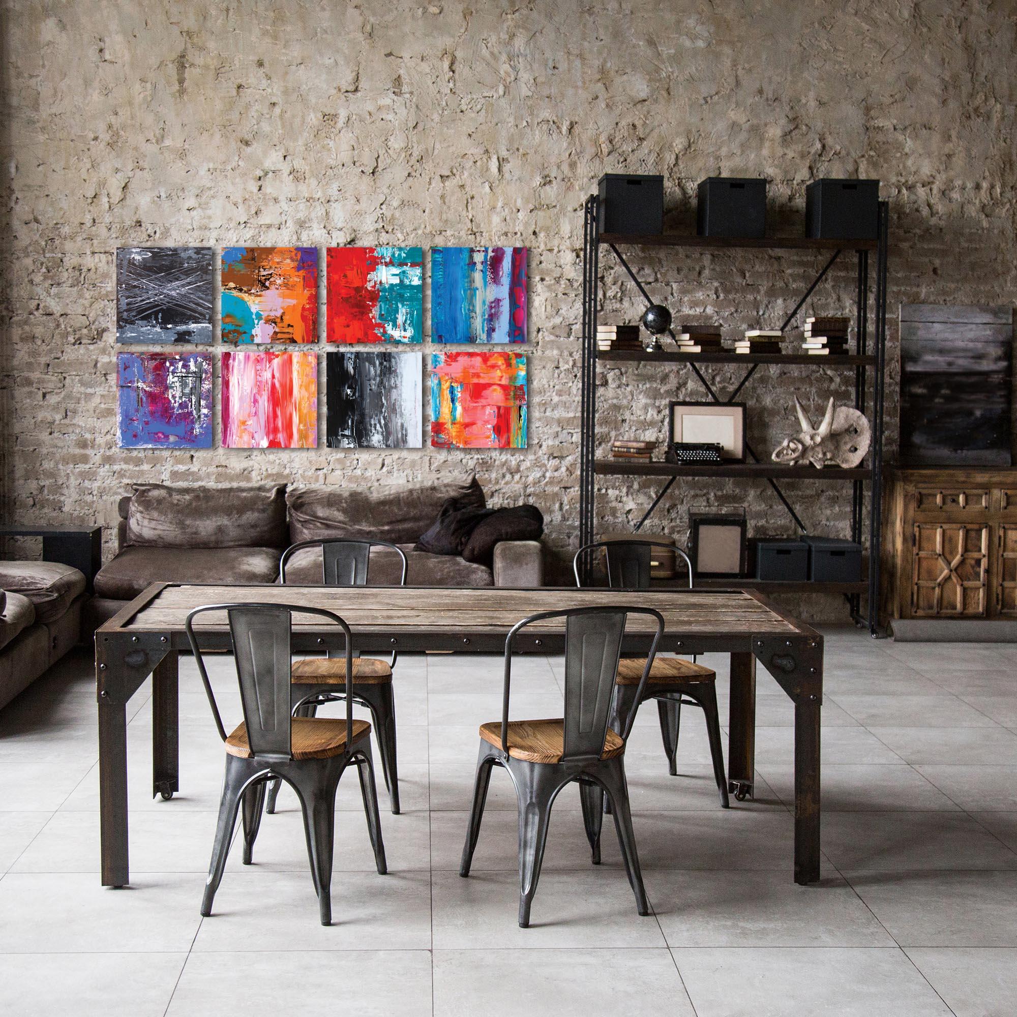 Abstract Wall Art 'Urban Windows Large' - Urban Decor on Metal or Plexiglass - Lifestyle View