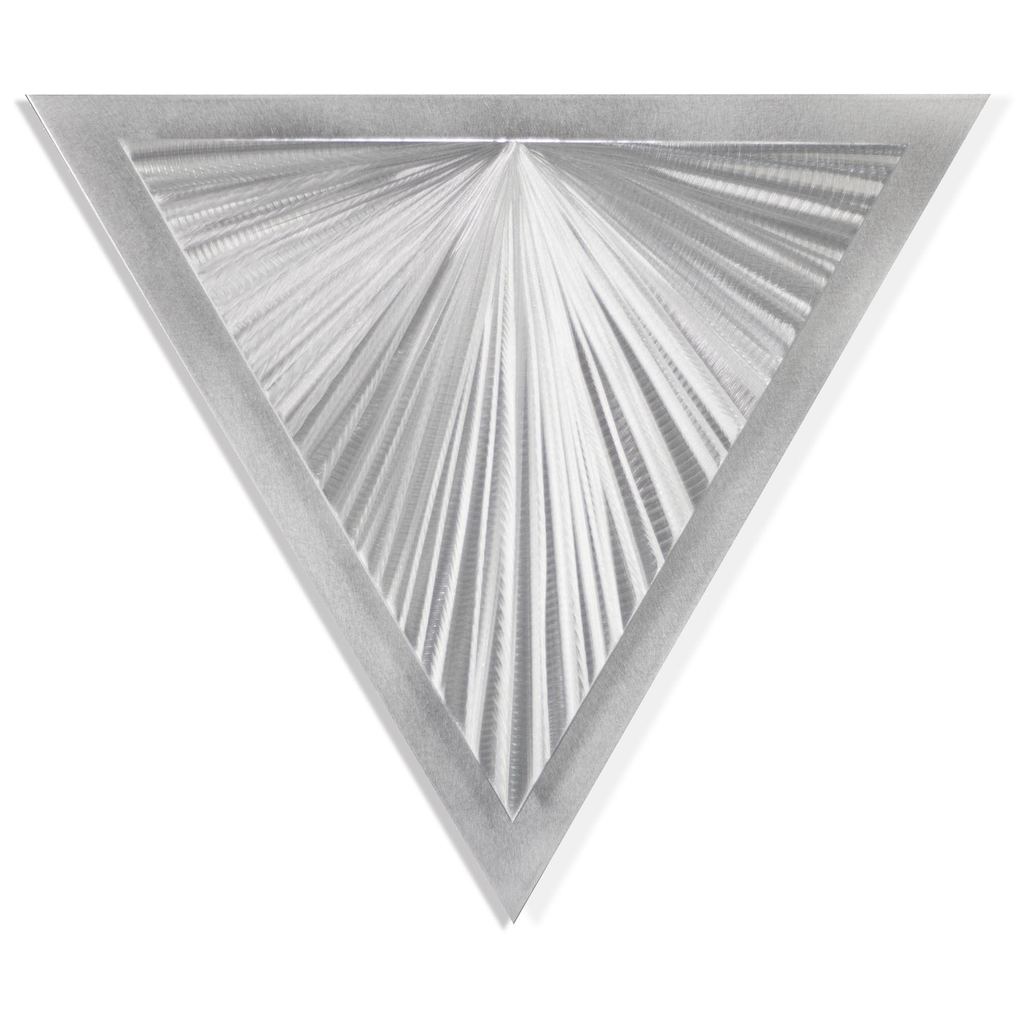 Helena Martin 'Shining Angle' 15in x 13in Modern Metal Art on Ground Metal