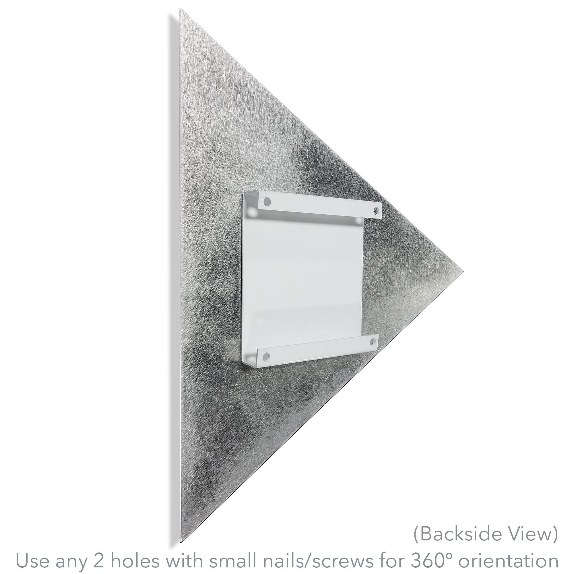 Folded Angle by Helena Martin - Modern Metal Art on Ground Metal - Alternate View 3