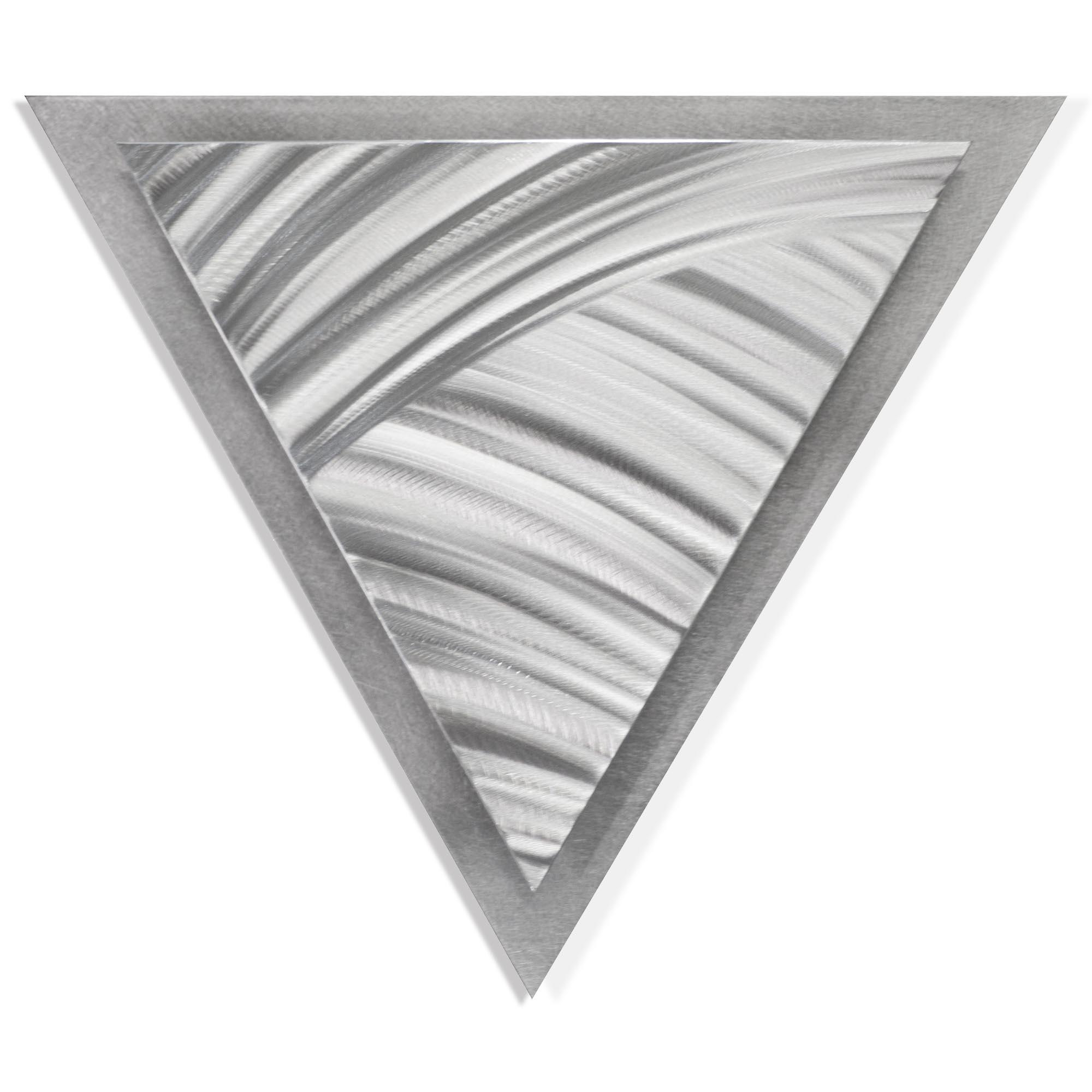 Helena Martin 'Folded Angle' 15in x 13in Modern Metal Art on Ground Metal