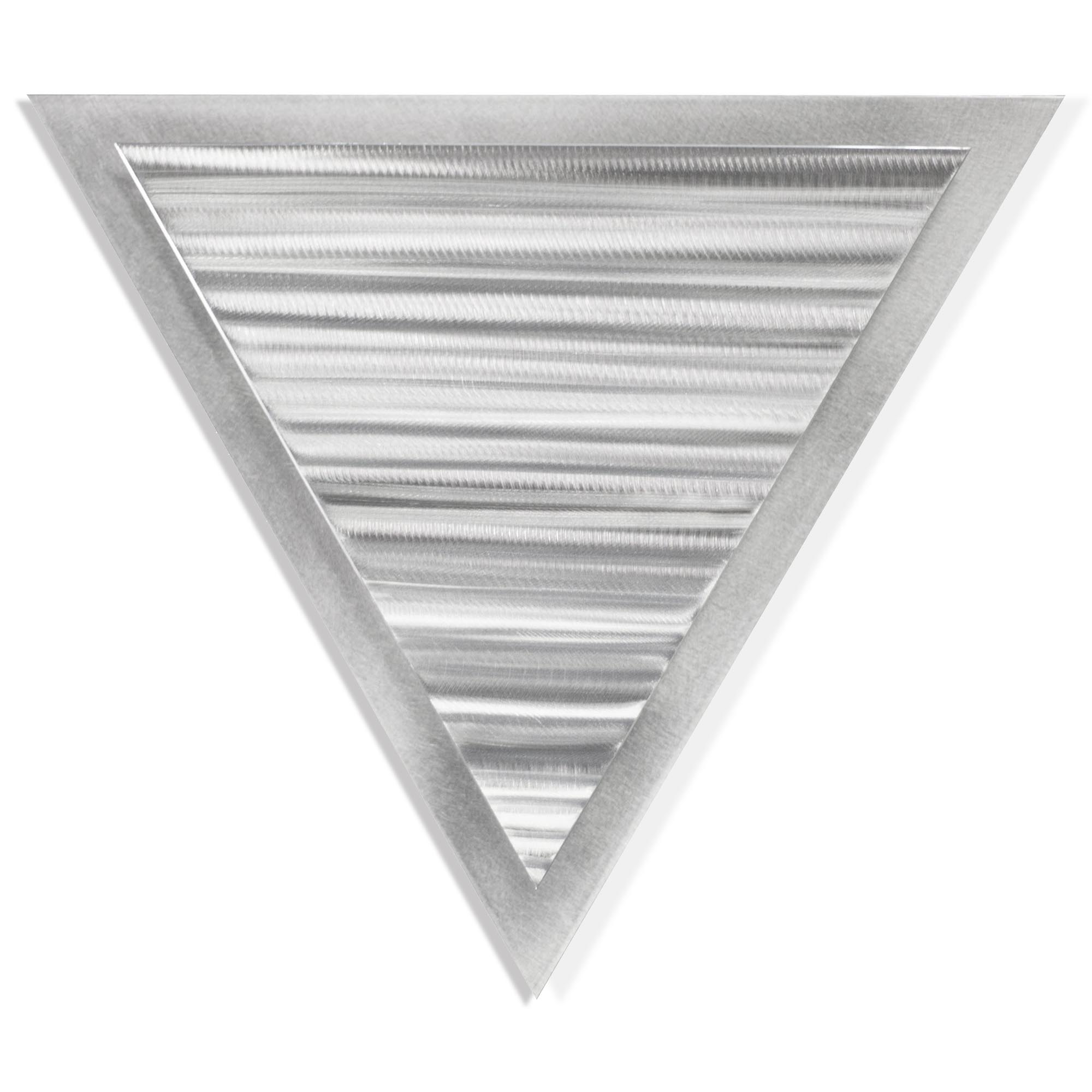 Helena Martin 'Strata Angle' 15in x 13in Modern Metal Art on Ground Metal
