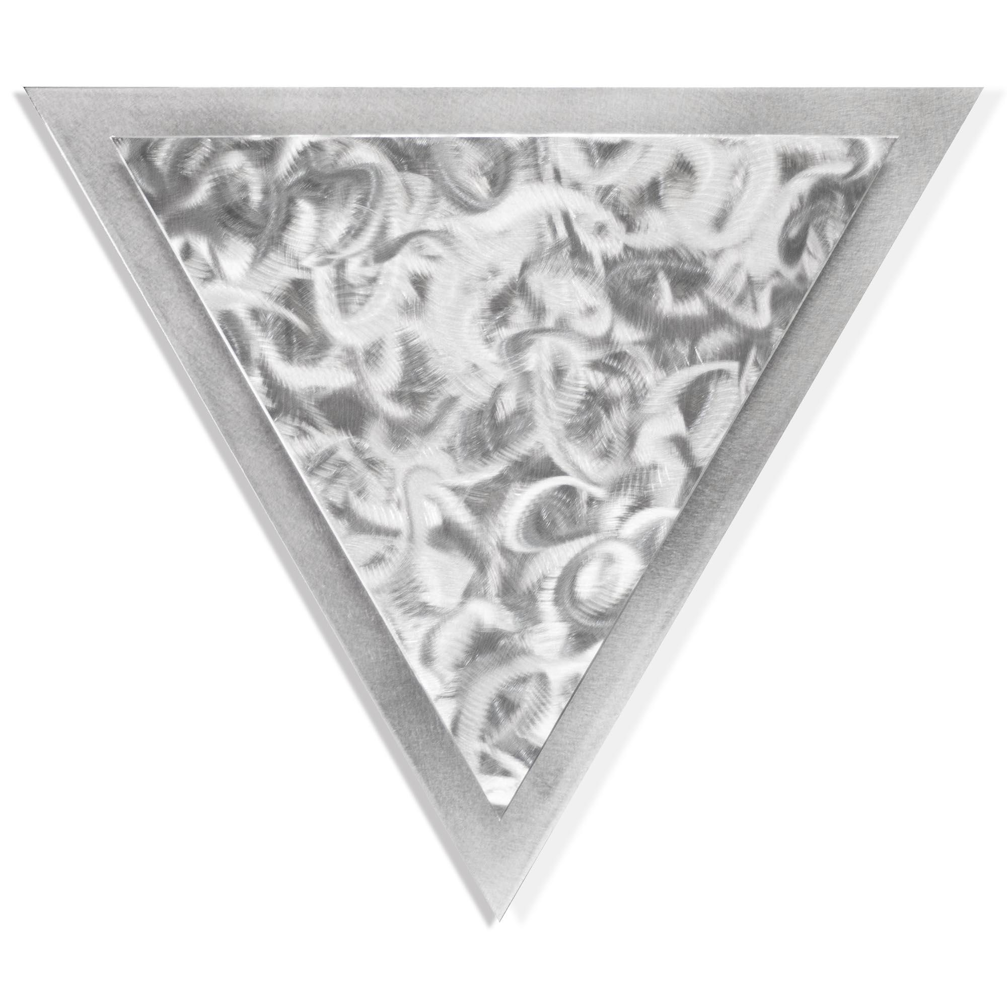 Helena Martin 'Twirled Angle' 15in x 13in Modern Metal Art on Ground Metal