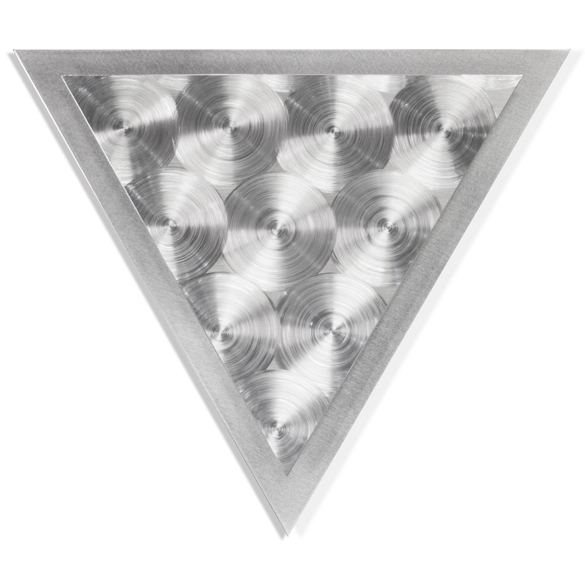 Helena Martin 'Discs Angle' 15in x 13in Modern Metal Art on Ground Metal