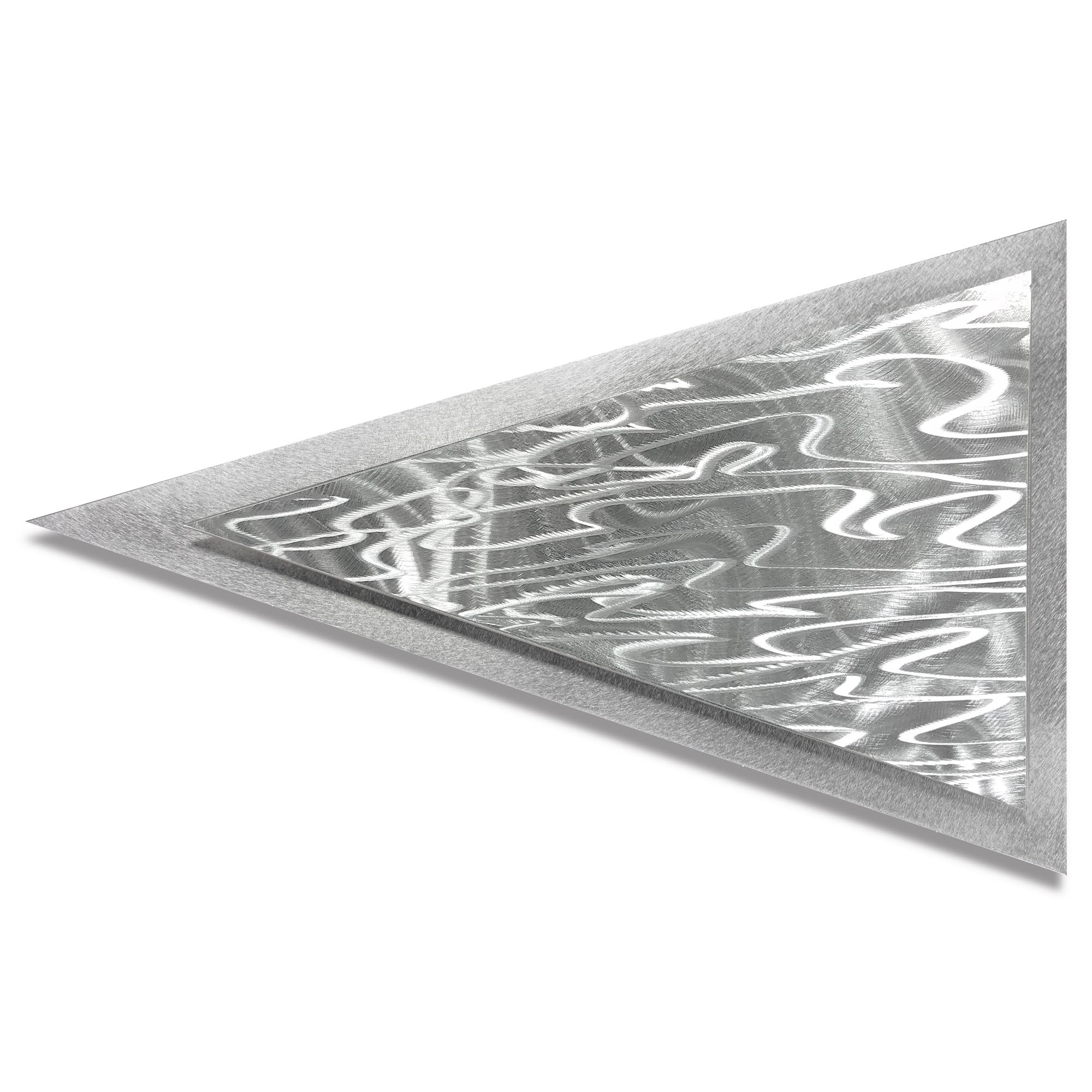 Helena Martin 'Currents Arrow' 24in x 15in Modern Metal Art on Ground Metal
