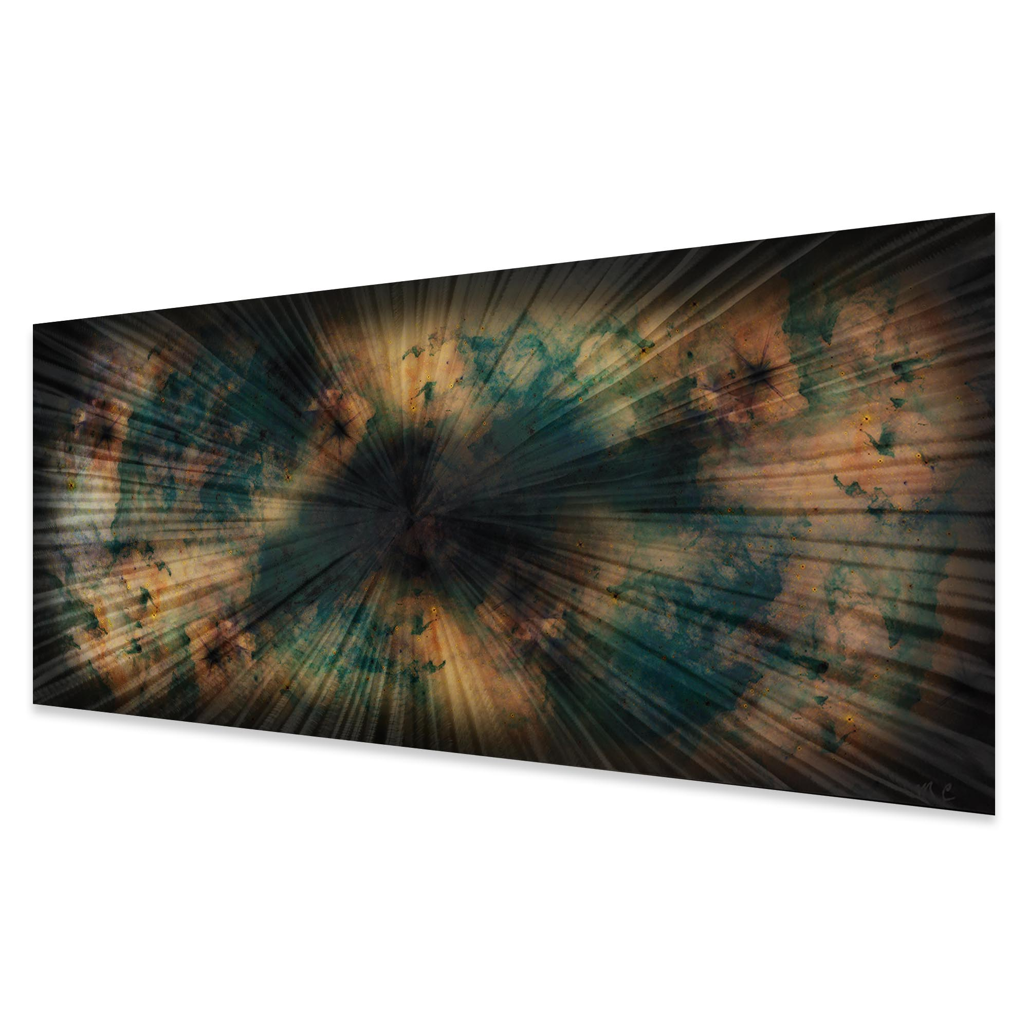 Organic Nebula by Helena Martin - Original Abstract Art on Ground and Colored Metal - Image 2