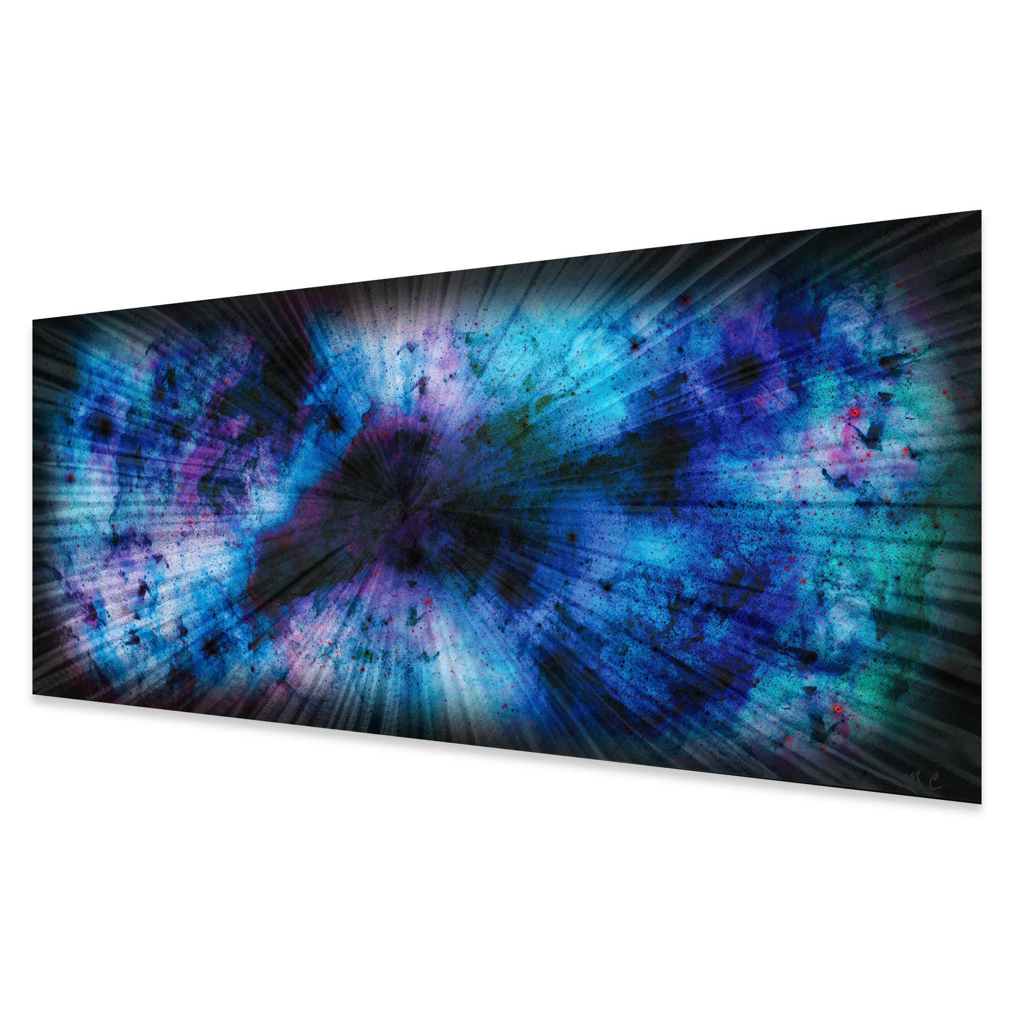 Blue Nebula by Helena Martin - Original Abstract Art on Ground and Colored Metal - Image 2