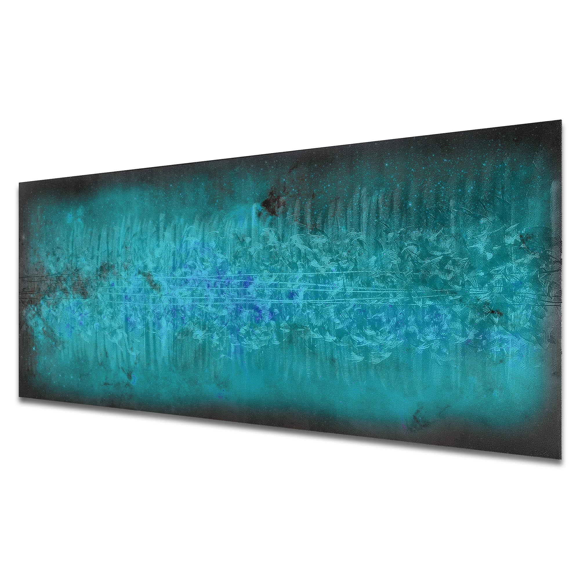 Milky Way Static by Helena Martin - Original Abstract Art on Ground and Colored Metal - Image 2
