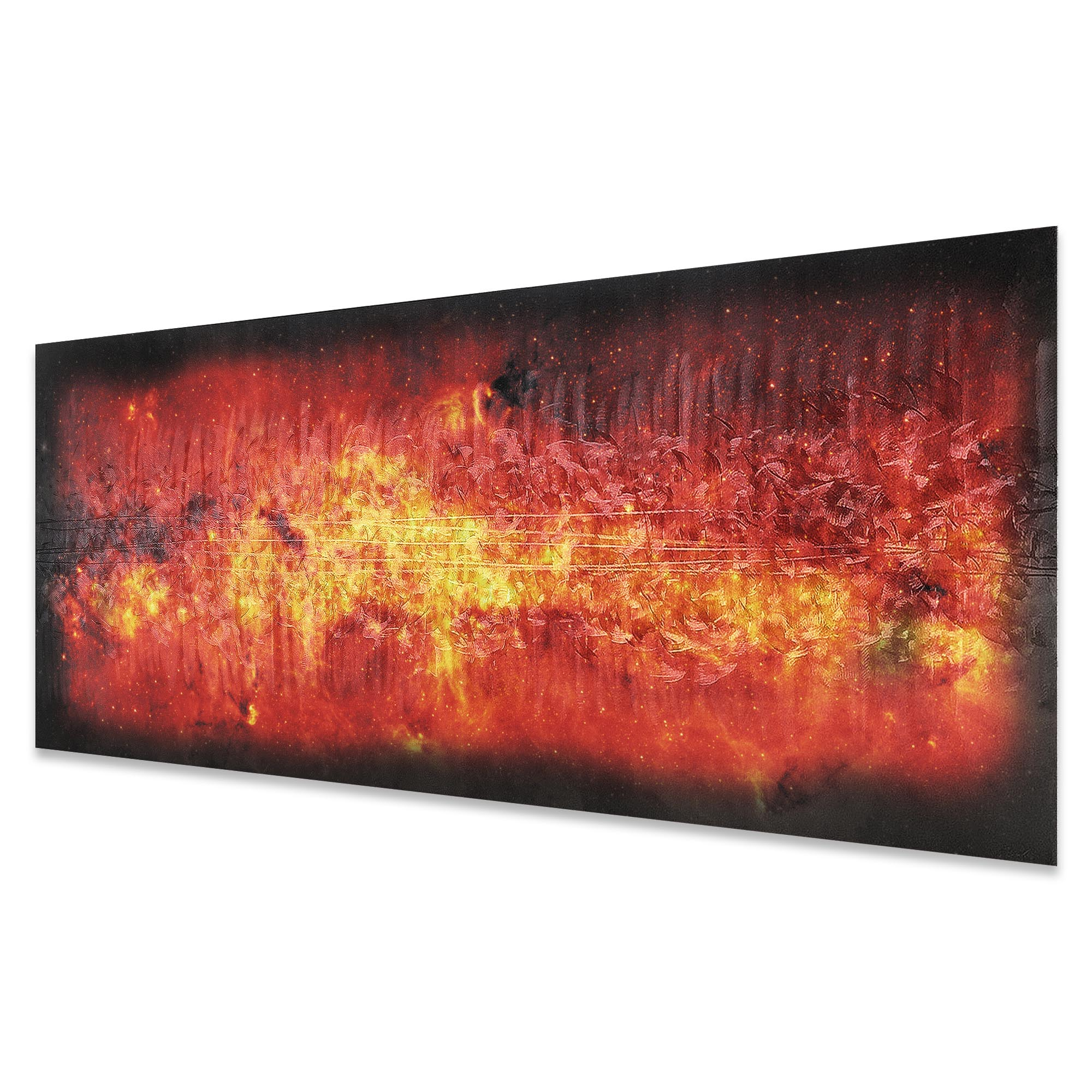 Milky Way Flame by Helena Martin - Original Abstract Art on Ground and Colored Metal - Image 2