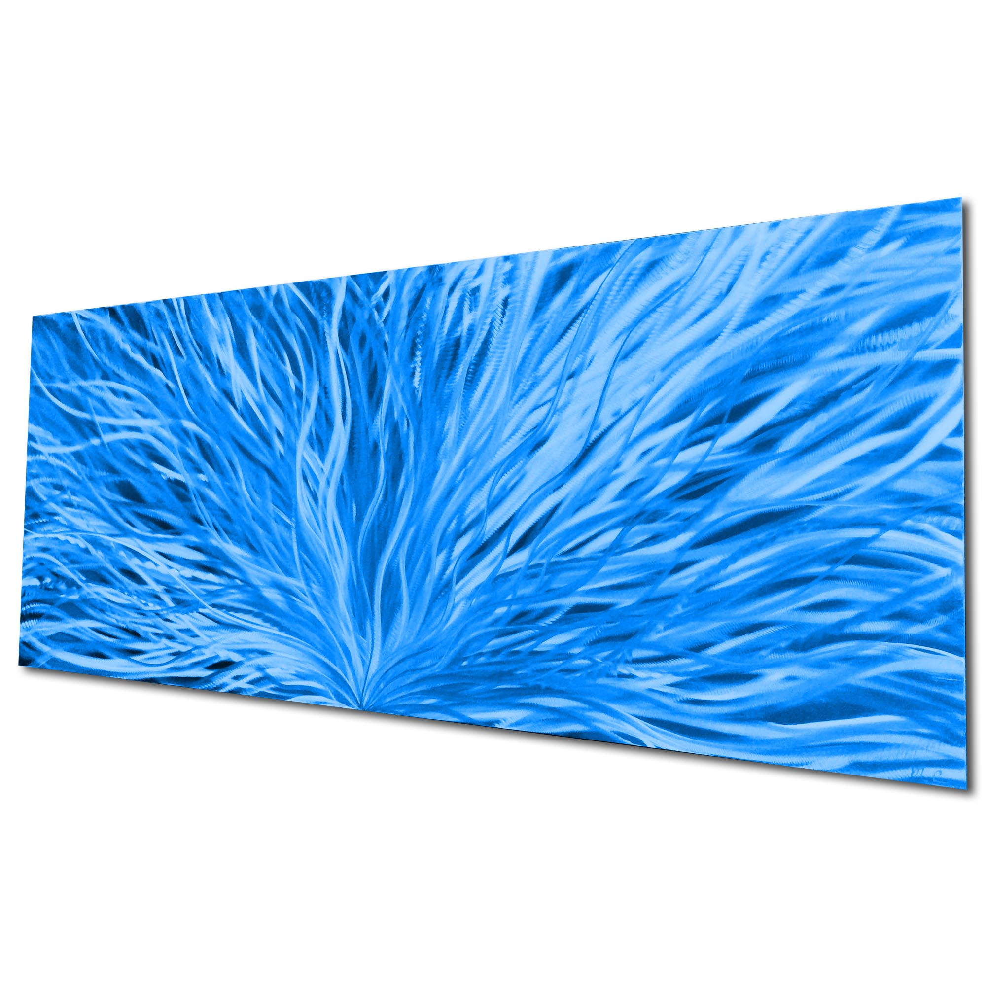 Blooming Blue by Helena Martin - Original Abstract Art on Ground and Painted Metal - Image 3