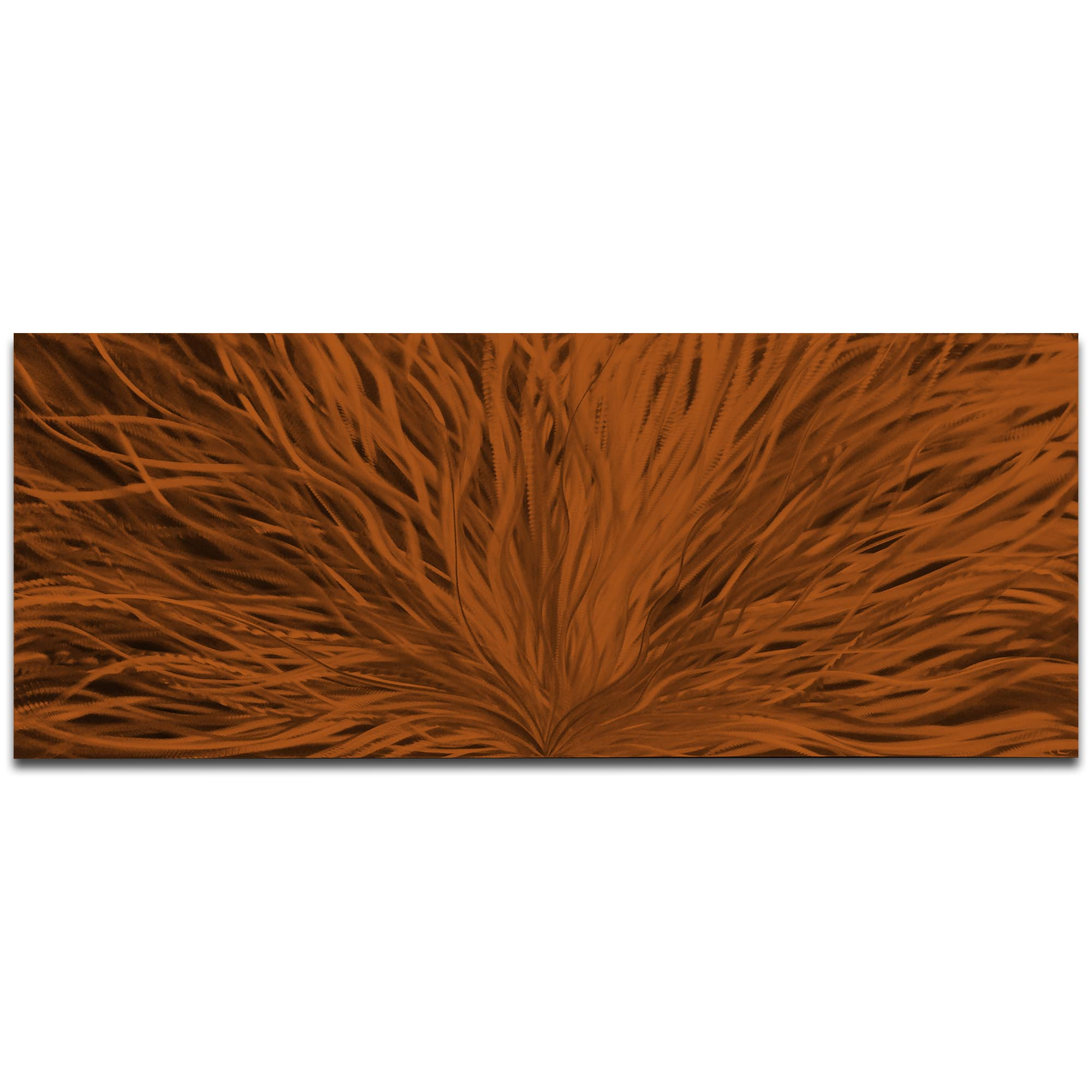 Helena Martin 'Blooming Brown' 60in x 24in Original Abstract Art on Ground and Painted Metal