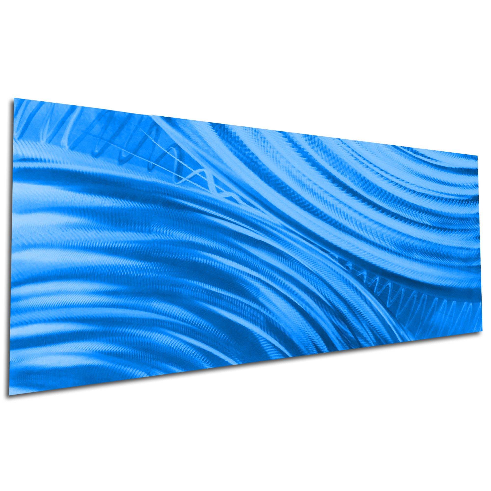 Moment of Impact Blue by Helena Martin - Original Abstract Art on Ground and Painted Metal - Image 3