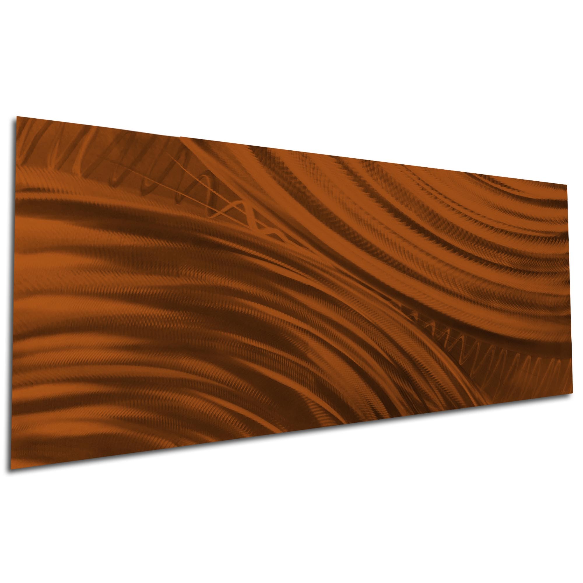 Moment of Impact Brown by Helena Martin - Original Abstract Art on Ground and Painted Metal - Image 3
