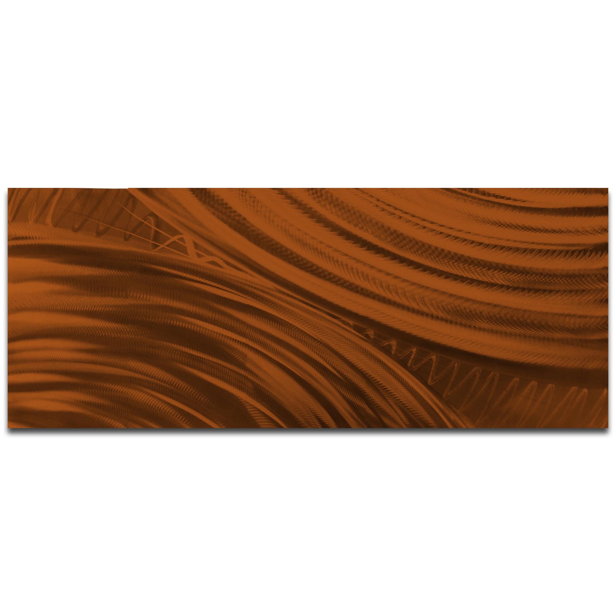 Helena Martin 'Moment of Impact Brown' 60in x 24in Original Abstract Art on Ground and Painted Metal