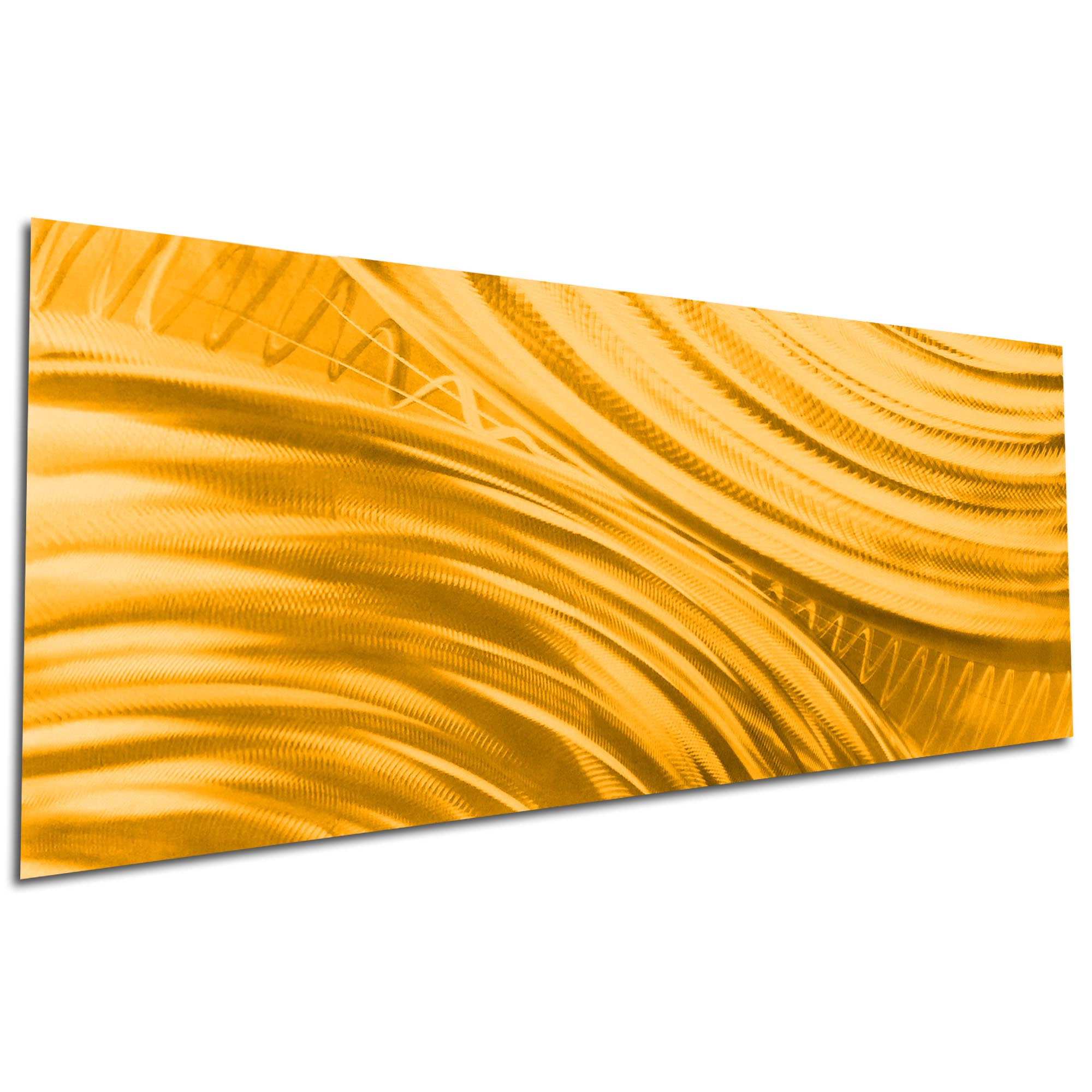 Moment of Impact Gold by Helena Martin - Original Abstract Art on Ground and Painted Metal - Image 3