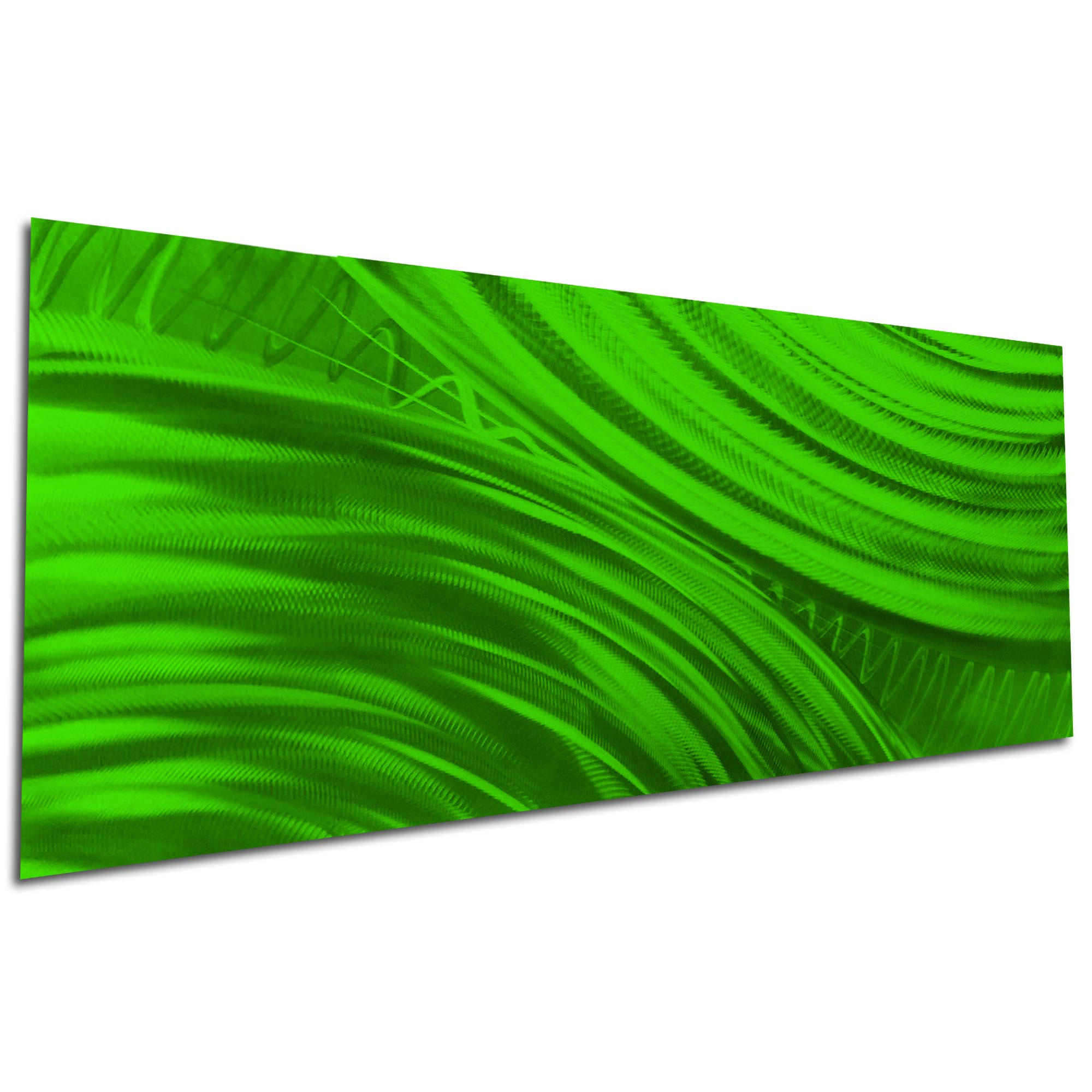 Moment of Impact Green by Helena Martin - Original Abstract Art on Ground and Painted Metal - Image 3