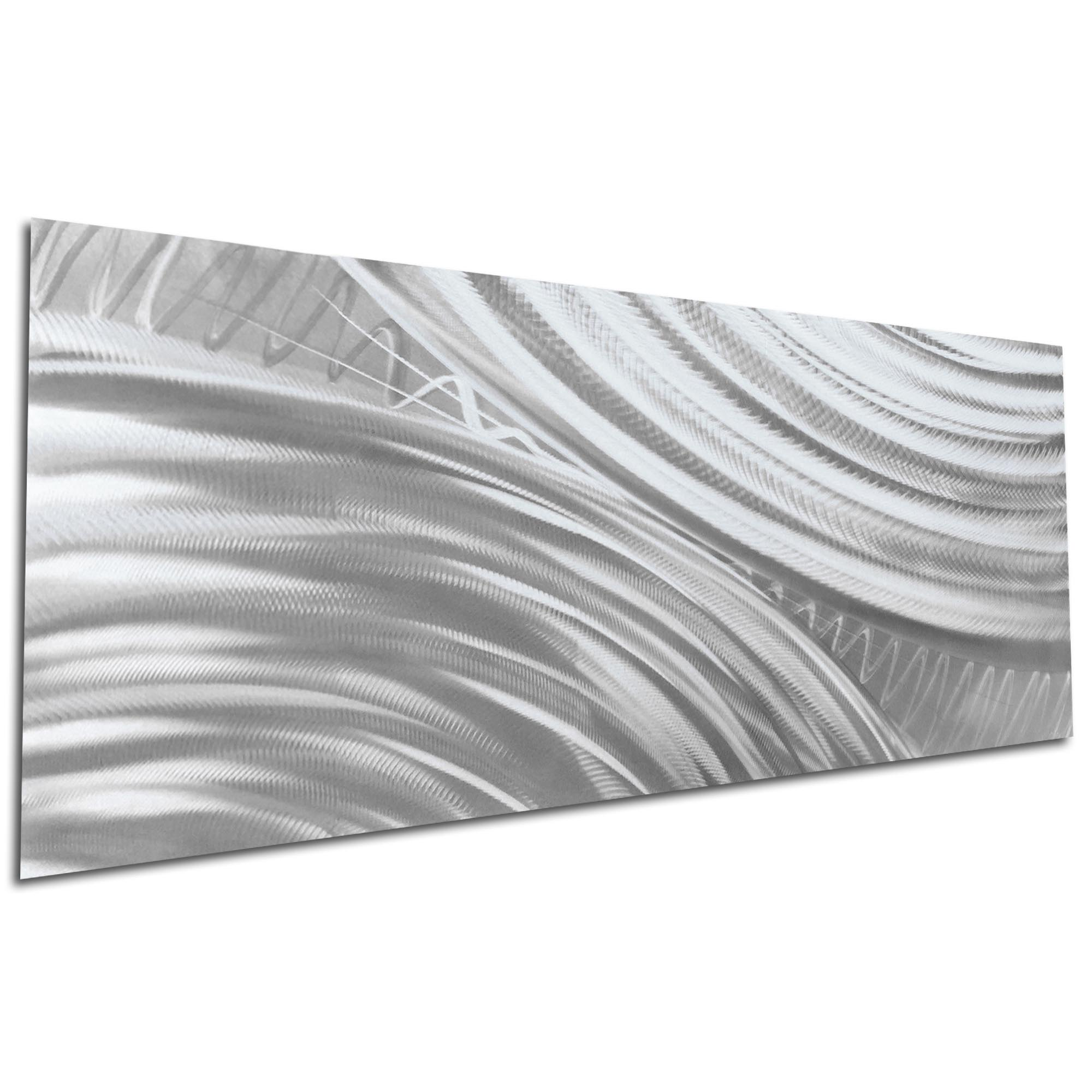 Moment of Impact Silver by Helena Martin - Original Abstract Art on Ground Metal - Image 3