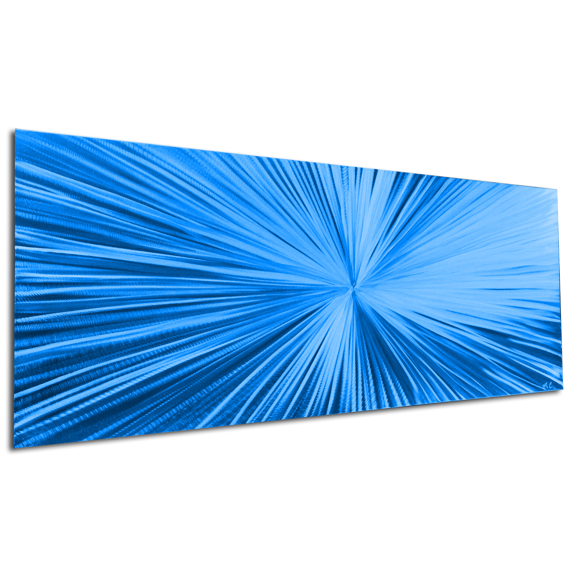 Starburst Blue by Helena Martin - Original Abstract Art on Ground and Painted Metal - Image 3