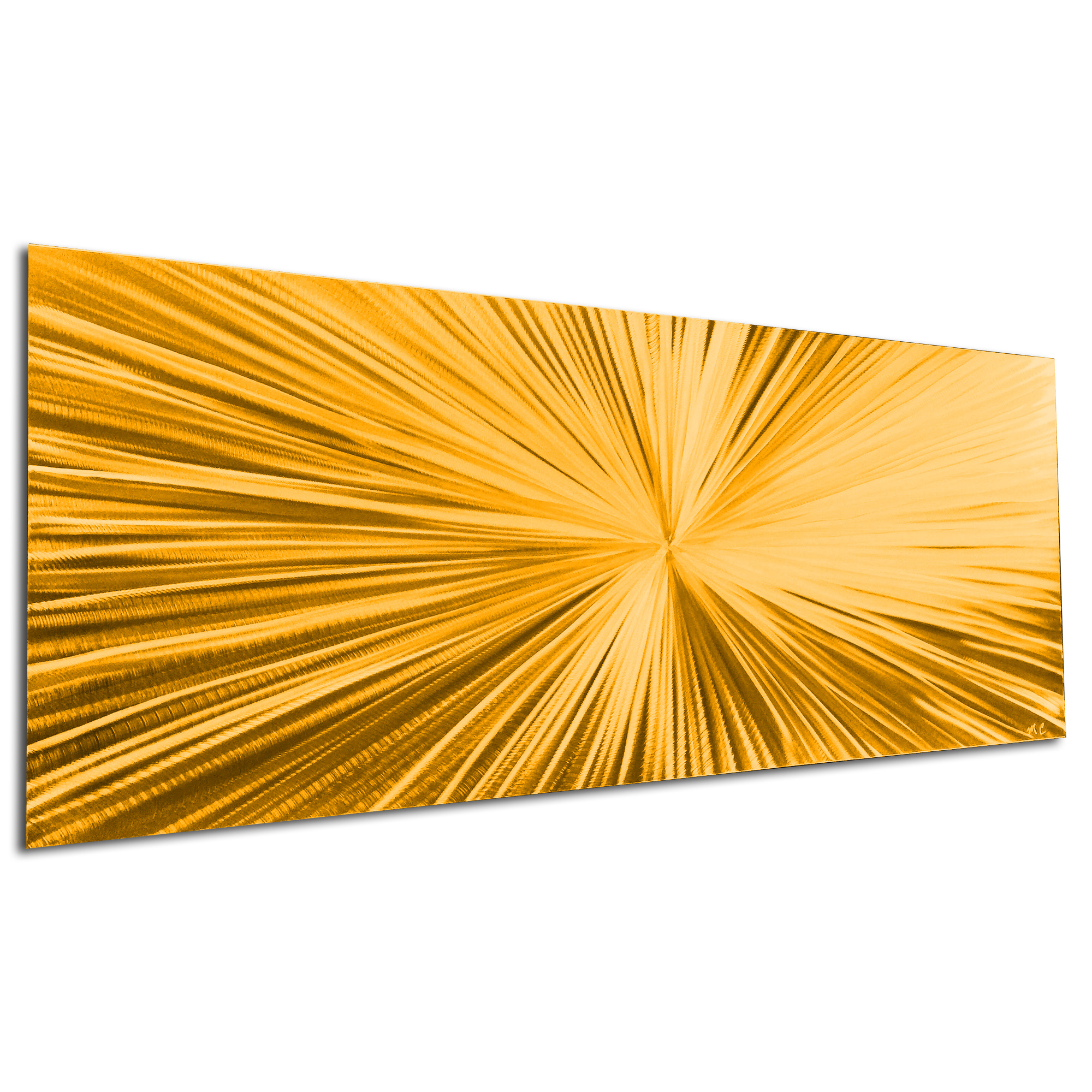 Starburst Gold by Helena Martin - Original Abstract Art on Ground and Painted Metal - Image 3