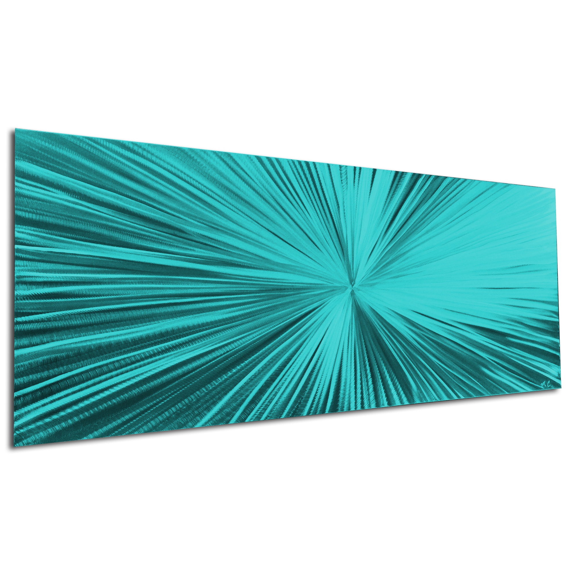 Starburst Teal by Helena Martin - Original Abstract Art on Ground and Painted Metal - Image 3