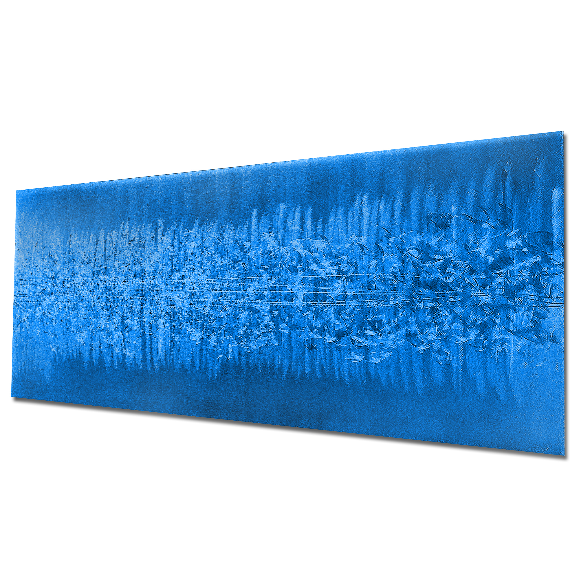 Static Blue by Helena Martin - Original Abstract Art on Ground and Painted Metal - Image 3