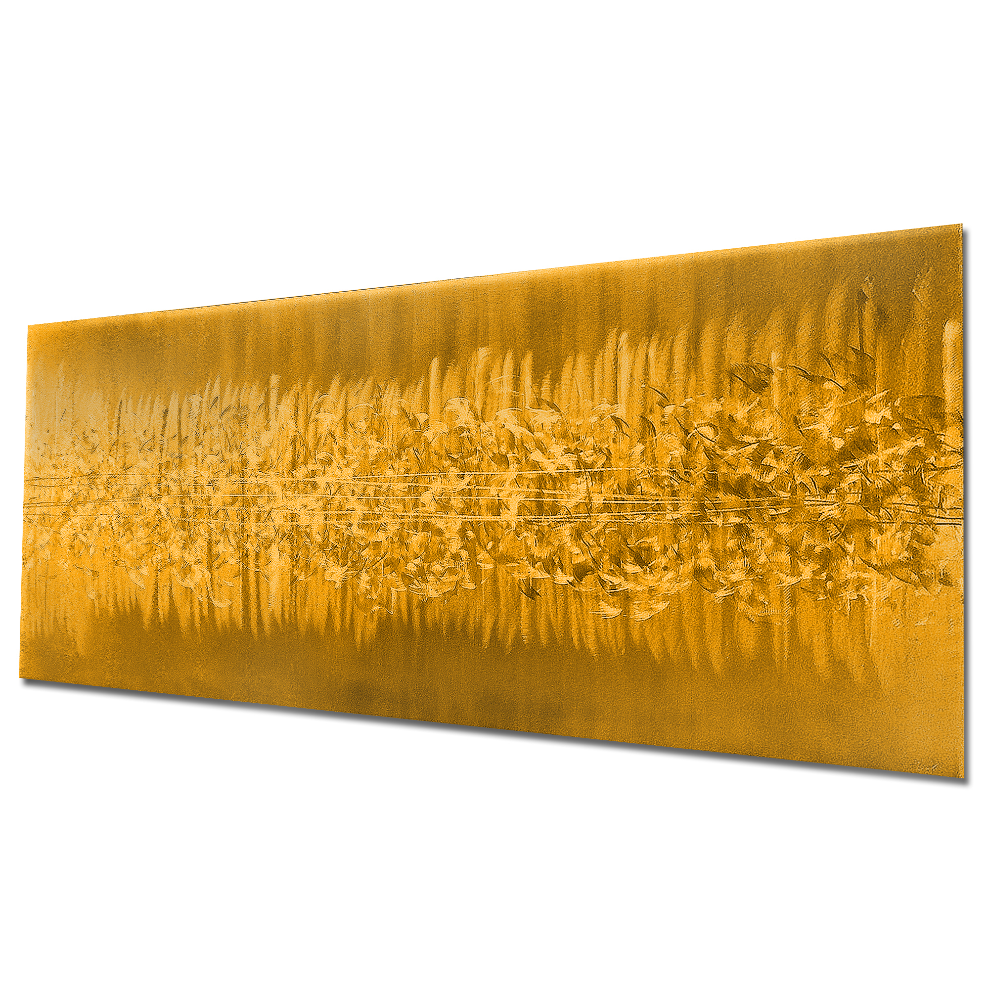 Static Gold by Helena Martin - Original Abstract Art on Ground and Painted Metal - Image 3