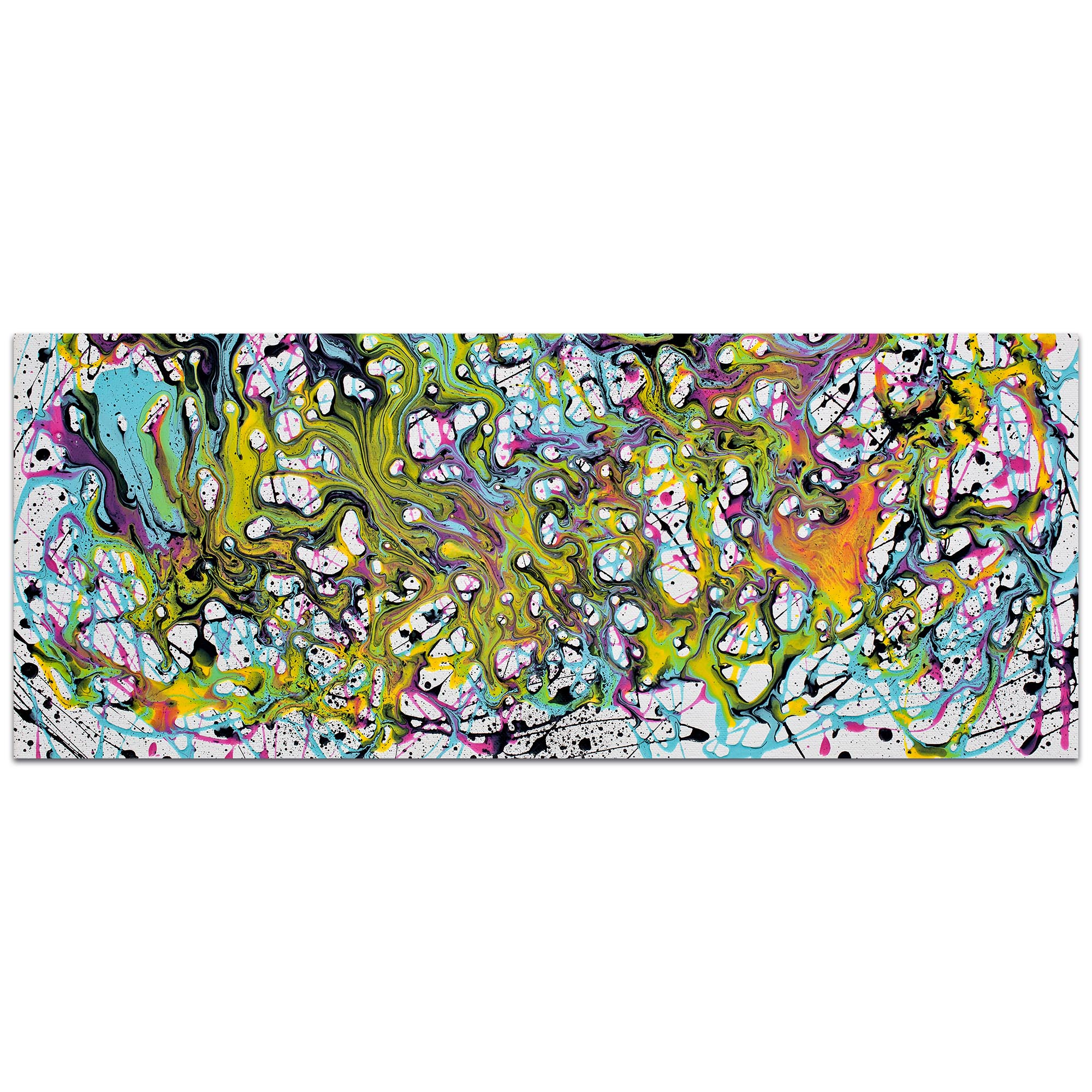 Abstract Wall Art 'Where Is My Mind' - Colorful Urban Decor on Metal or Plexiglass