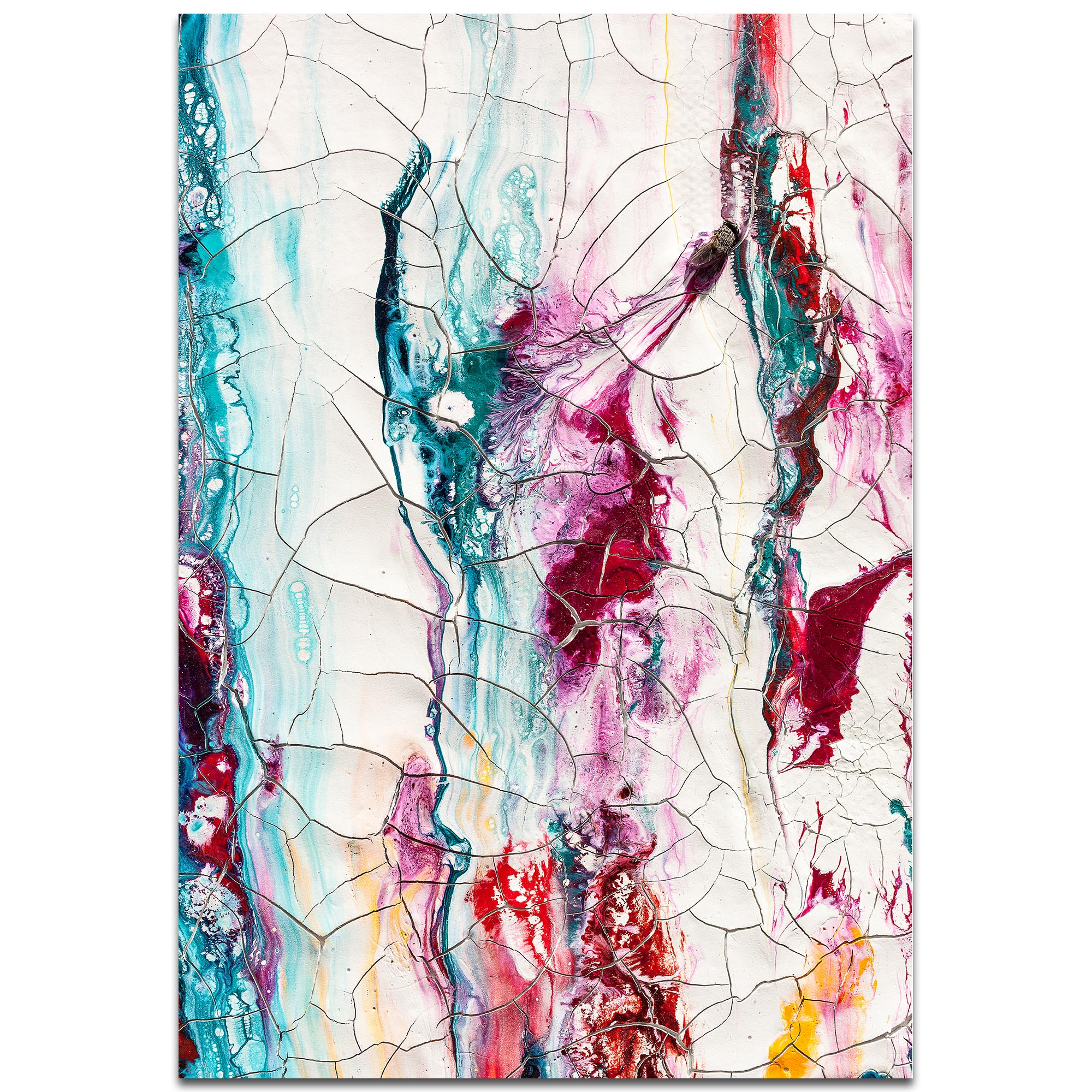 Abstract Wall Art 'Collateral Damage 3' - Colorful Urban Decor on Metal or Plexiglass