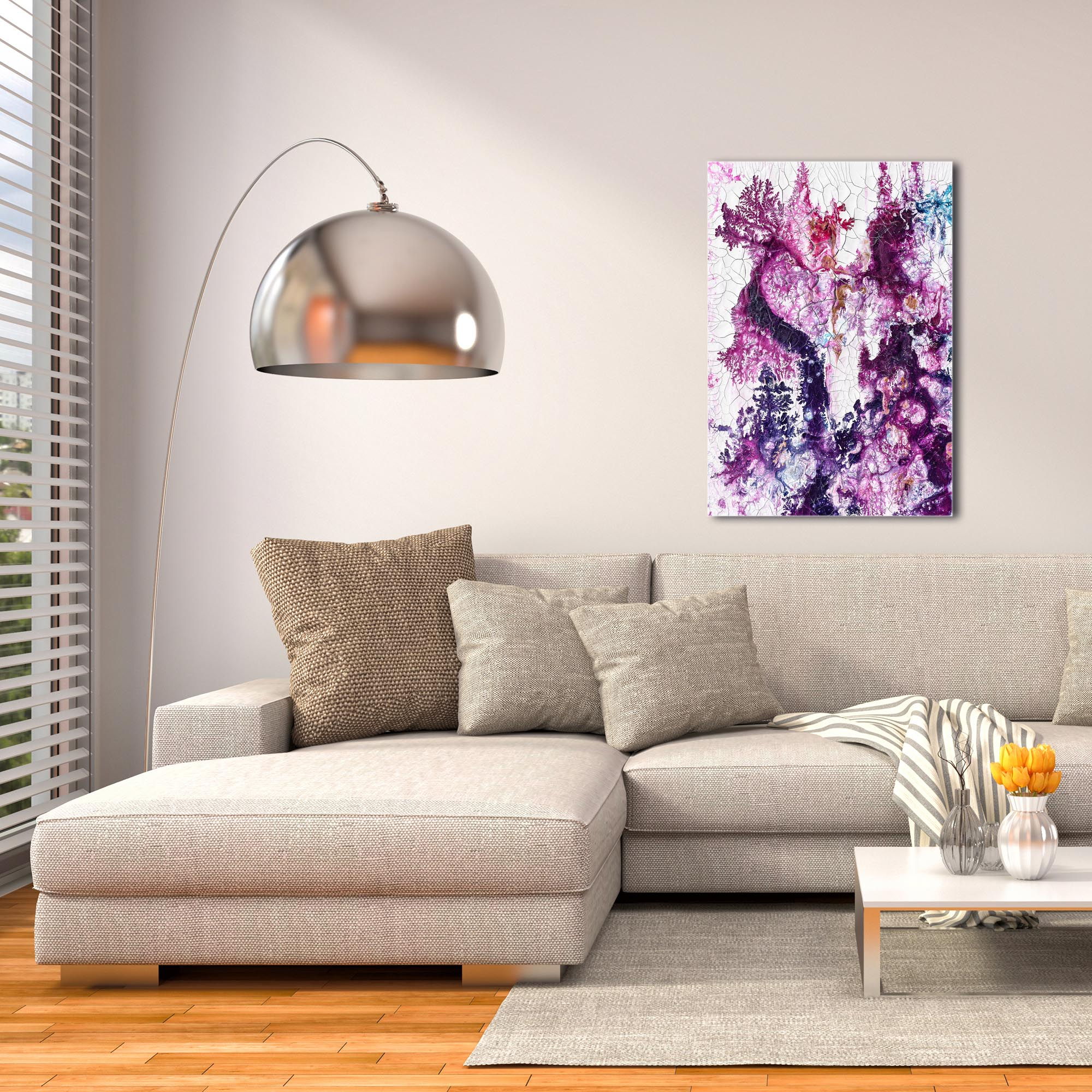 Abstract Wall Art 'Cracks 3' - Urban Decor on Metal or Plexiglass - Image 3