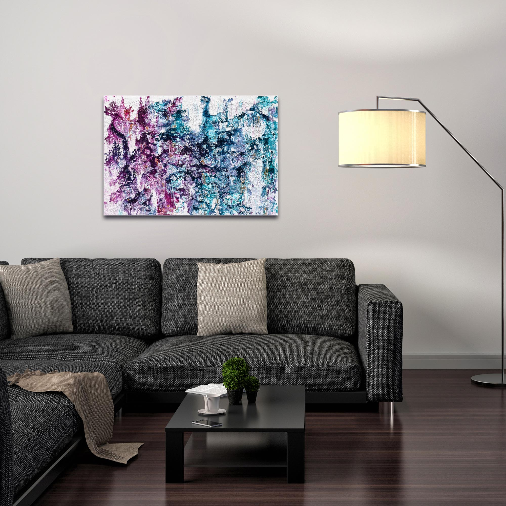 Abstract Wall Art 'Essence 1' - Colorful Urban Decor on Metal or Plexiglass - Image 3