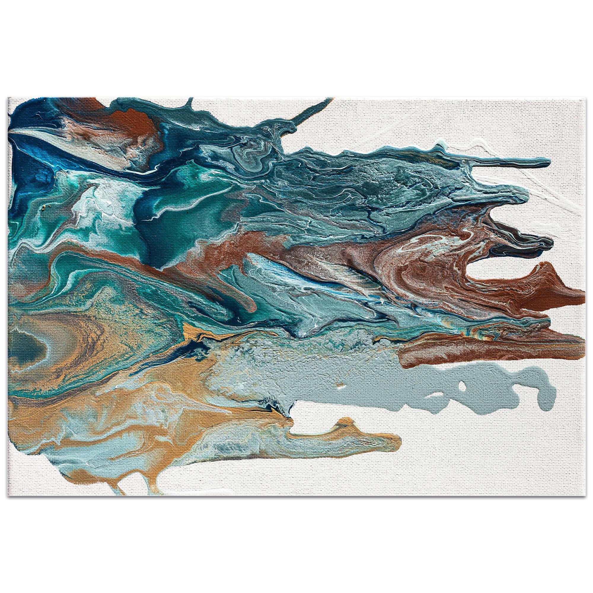 Abstract Wall Art 'Earth 1' - Urban Splatter Decor on Metal or Plexiglass - Image 2