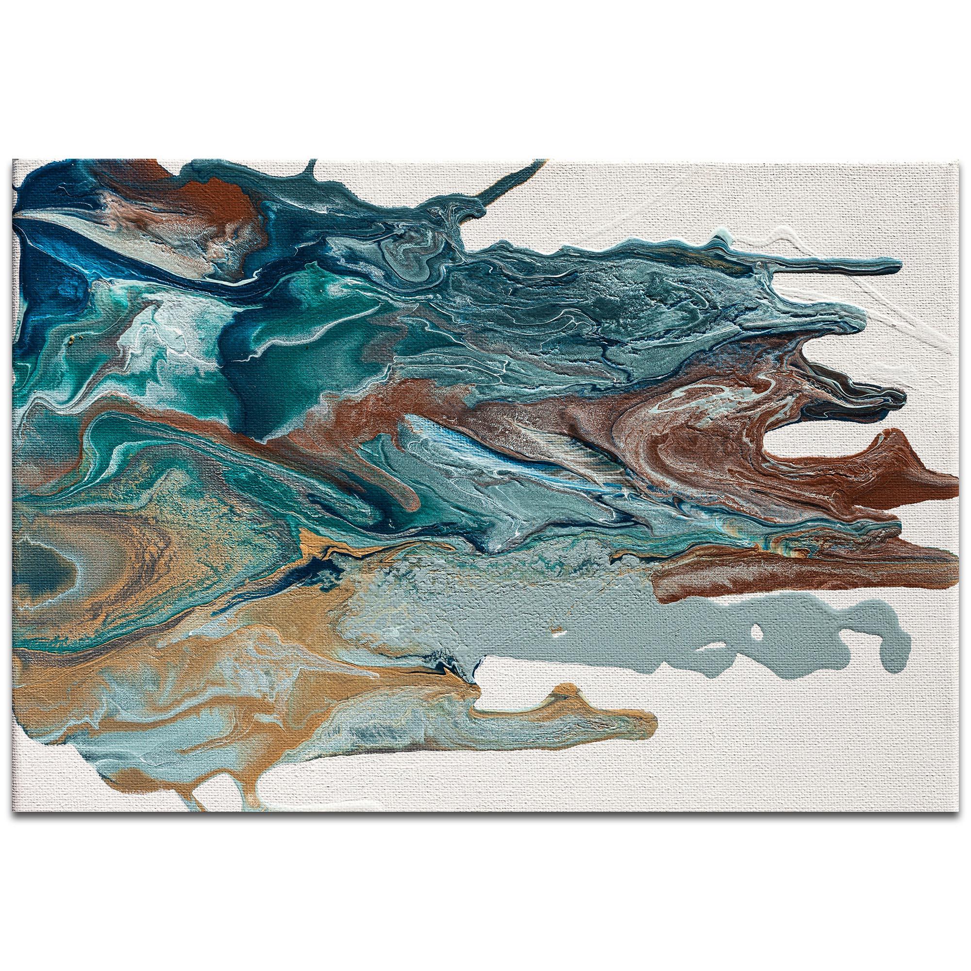 Abstract Wall Art 'Earth 1' - Urban Splatter Decor on Metal or Plexiglass