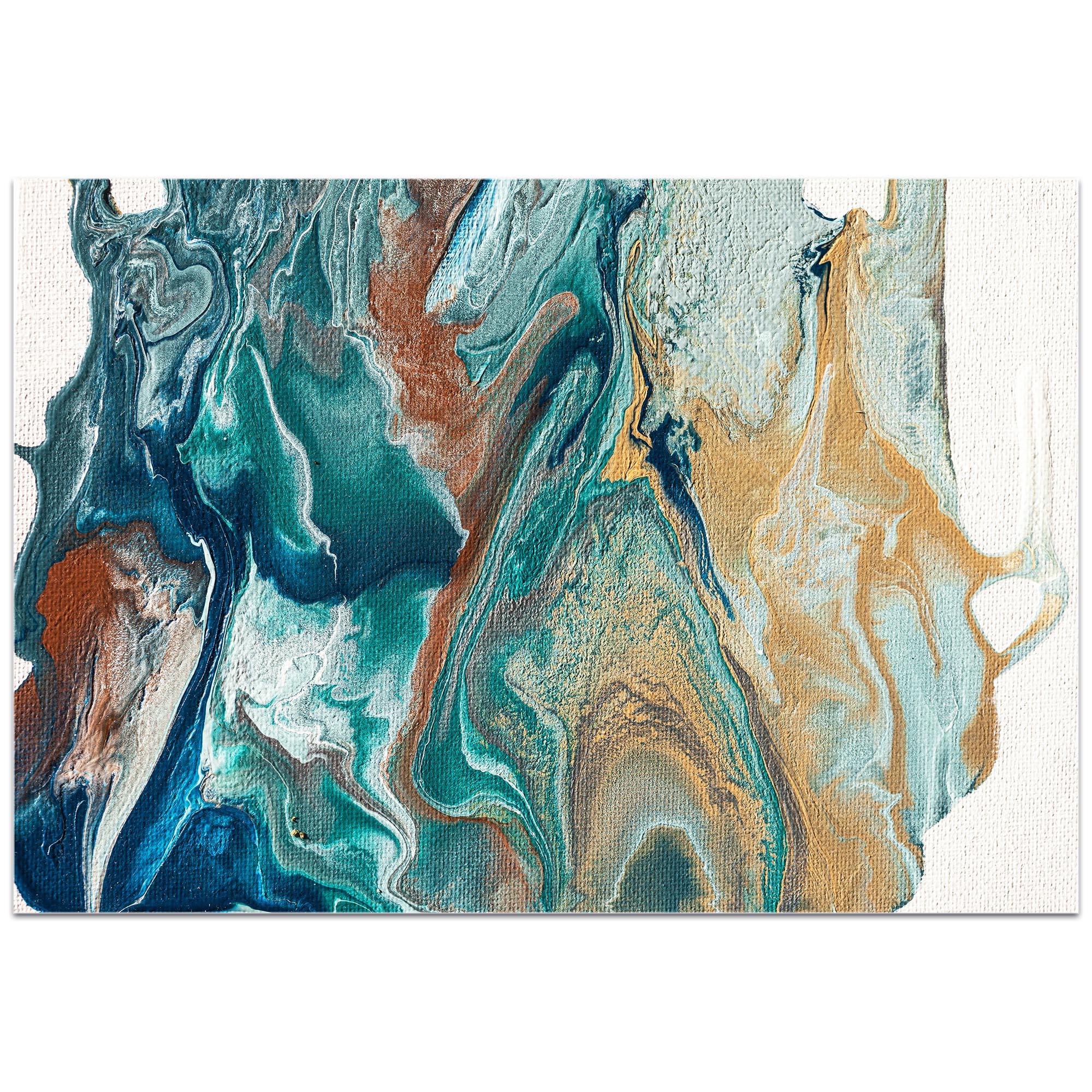 Abstract Wall Art 'Earth 2' - Urban Splatter Decor on Metal or Plexiglass - Image 2