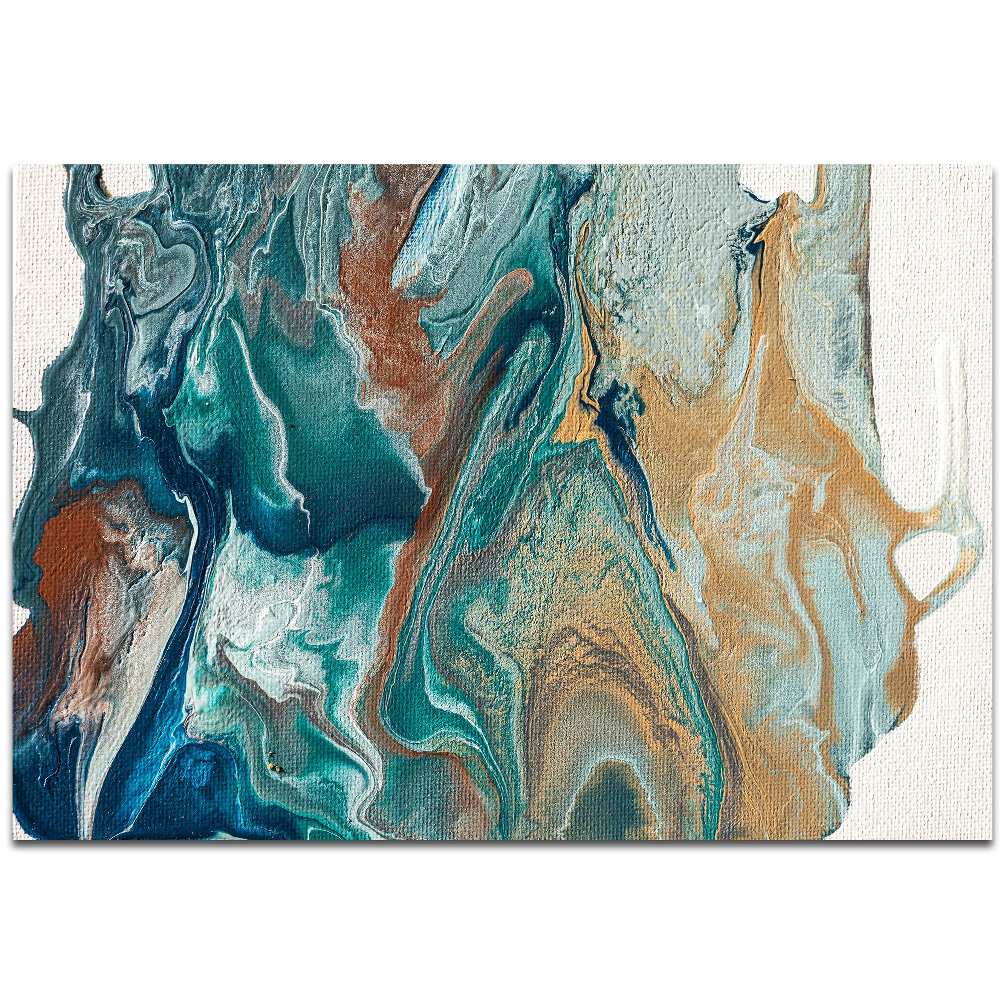 Abstract Wall Art 'Earth 2' - Urban Splatter Decor on Metal or Plexiglass